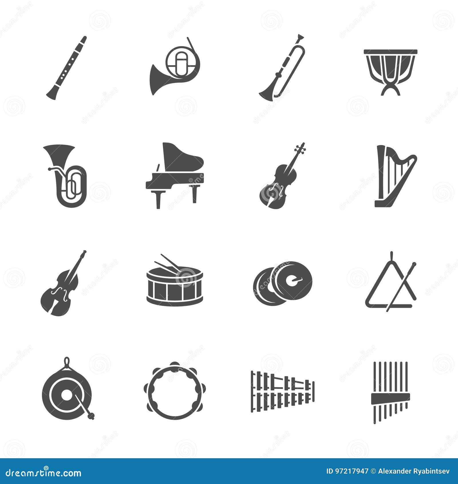 Orkiestra instrumentów ikony