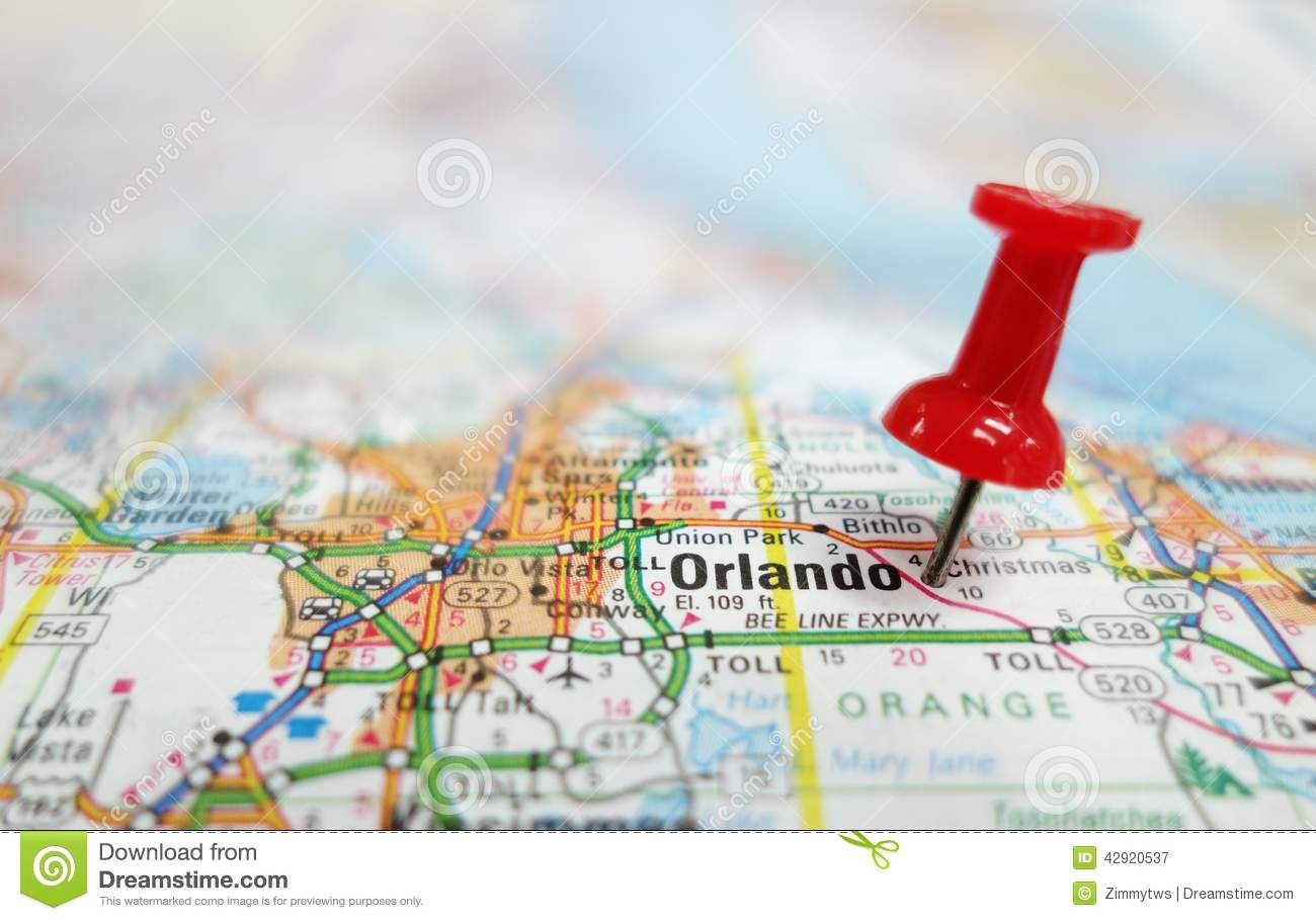 Orlando Florida On Map.Orlando Stock Image Image Of Search Orlando Travel 42920537