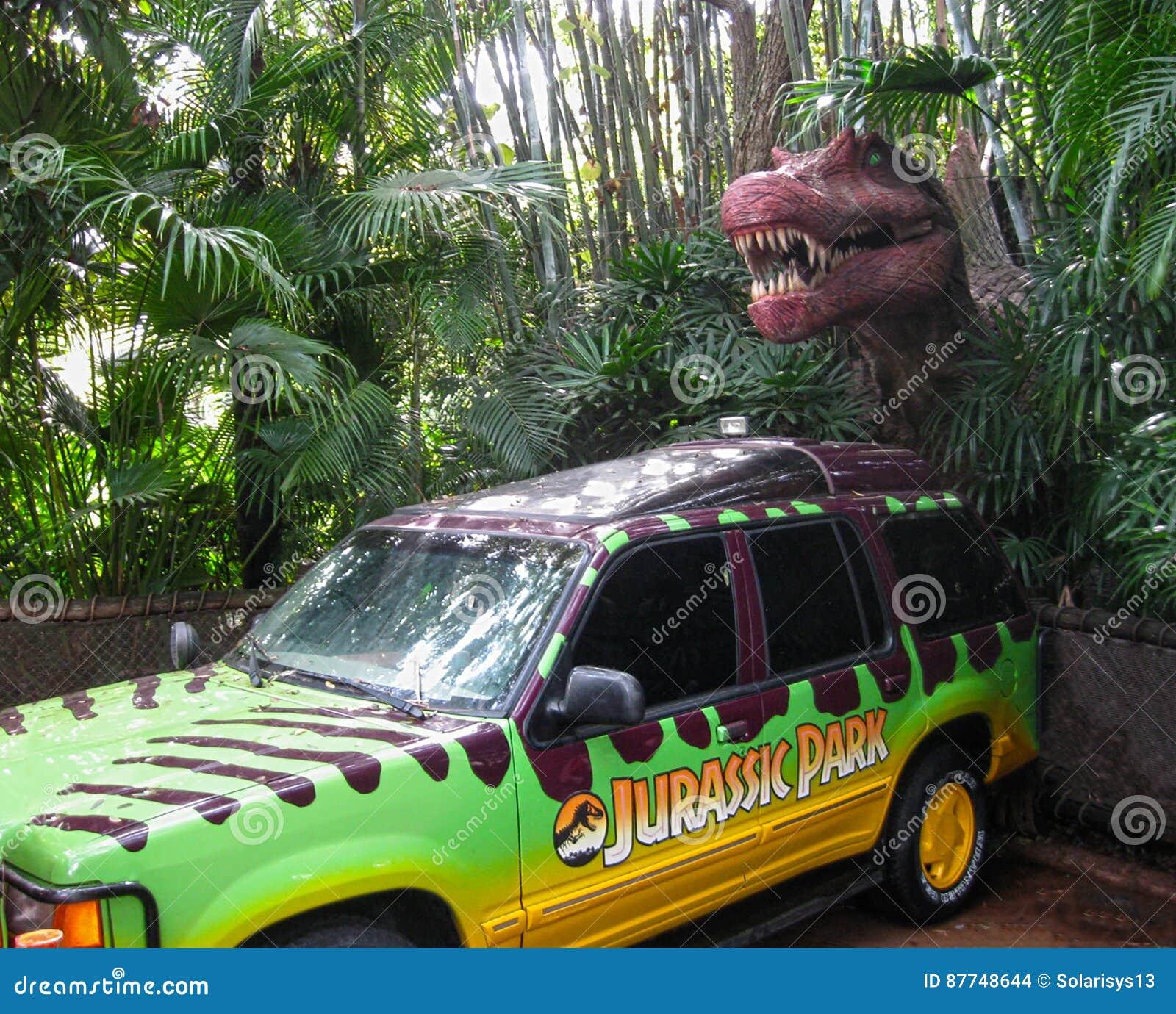 Orlando, de Verenigde Staten van Amerika - Januari 02, 2014: Dinosaurussleep bij Universeel het themapark van Studio sflorida