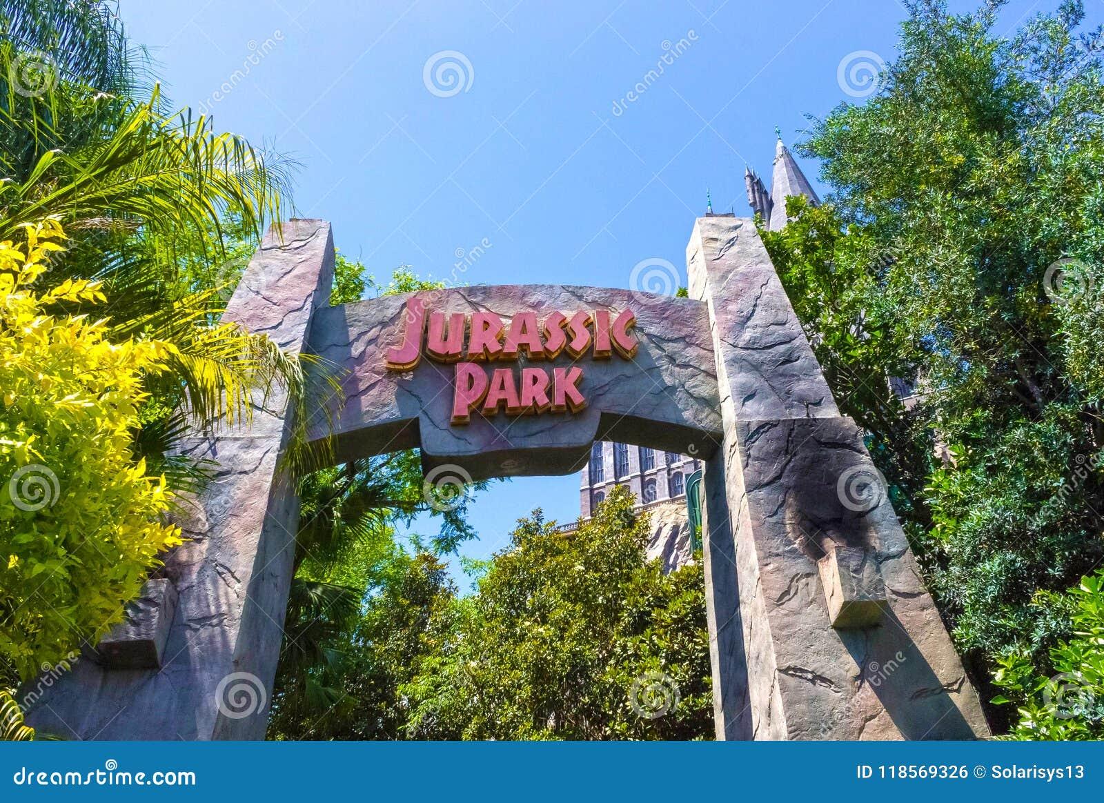 Map Of Universal Studios Florida.Orlando Florida May 09 2018 Jurassic Park At Universal Studios
