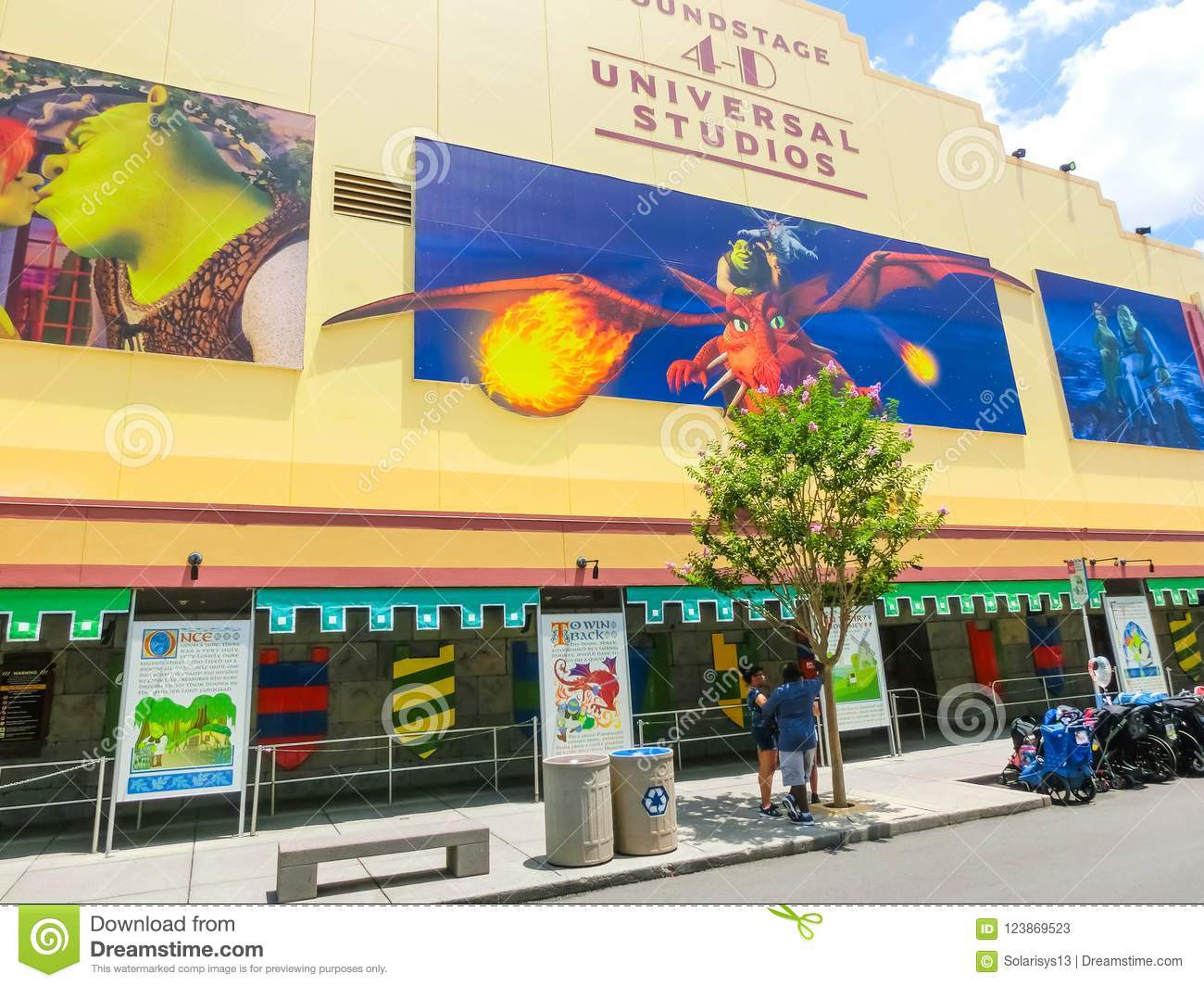 Orlando Florida Usa May 10 2018 The Entrance To Shrek 4d Ride In Soundstage Editorial Stock Photo Image Of Editorial Fantasy 123869523