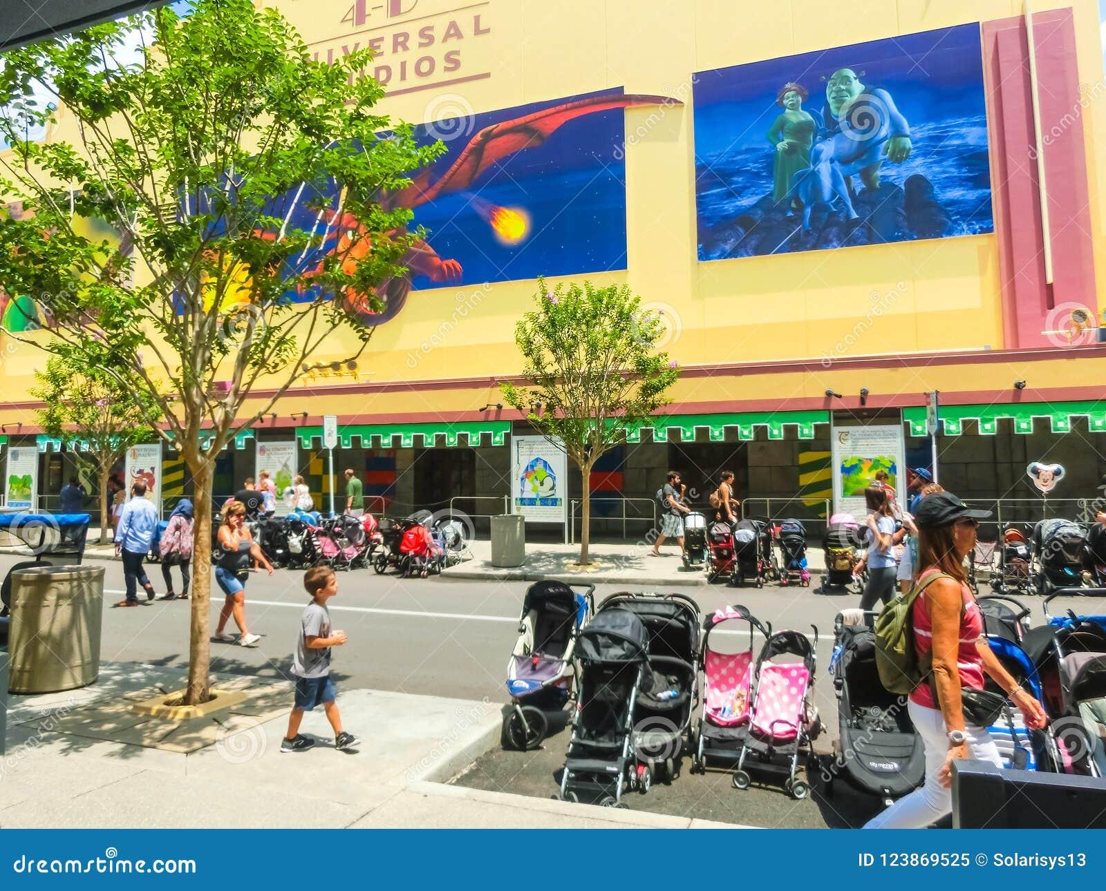 Shrek 4-d film in universal studios florida, fl, usa editorial.