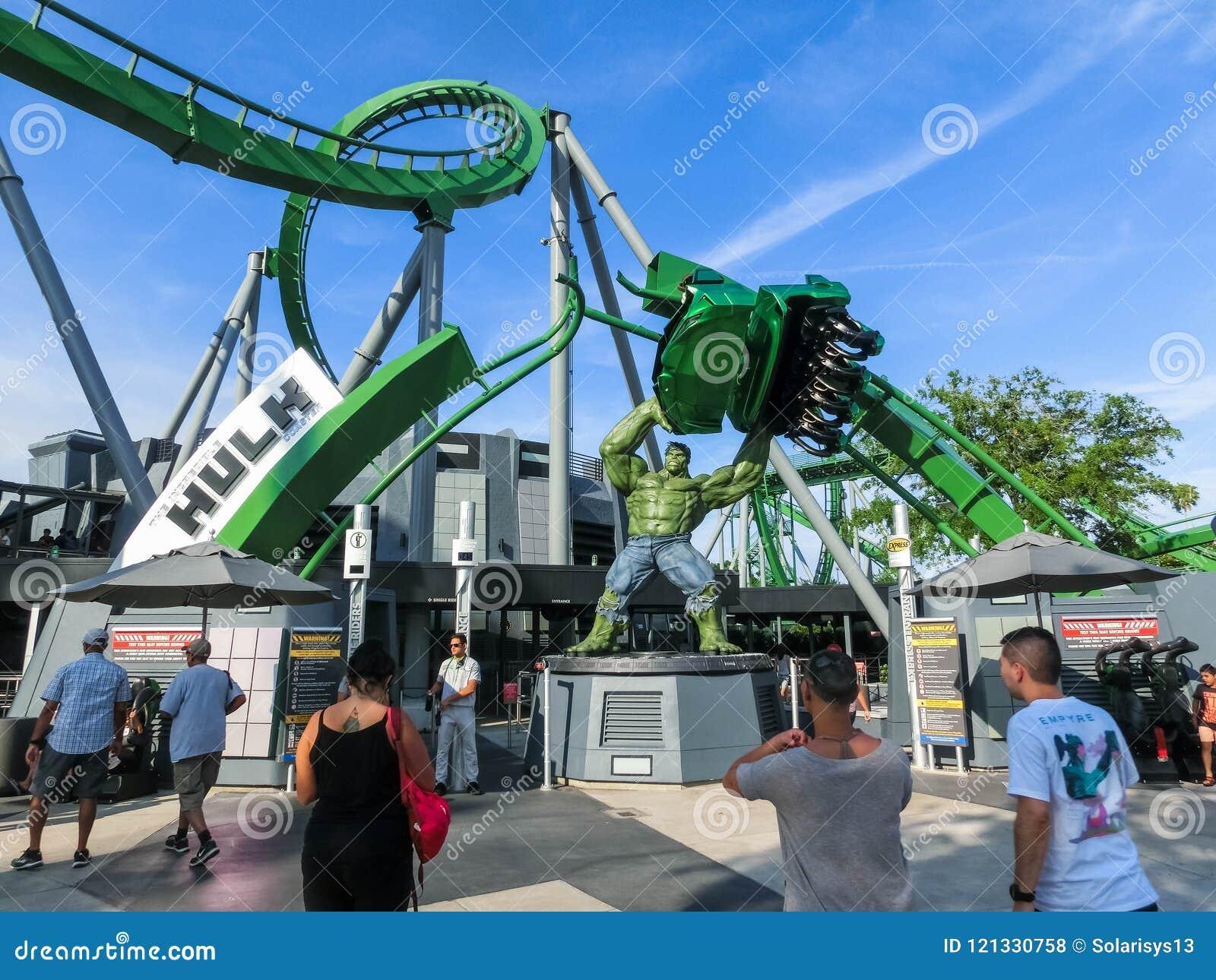 orlando florida usa may 10 2018 incredible hulk coaster in