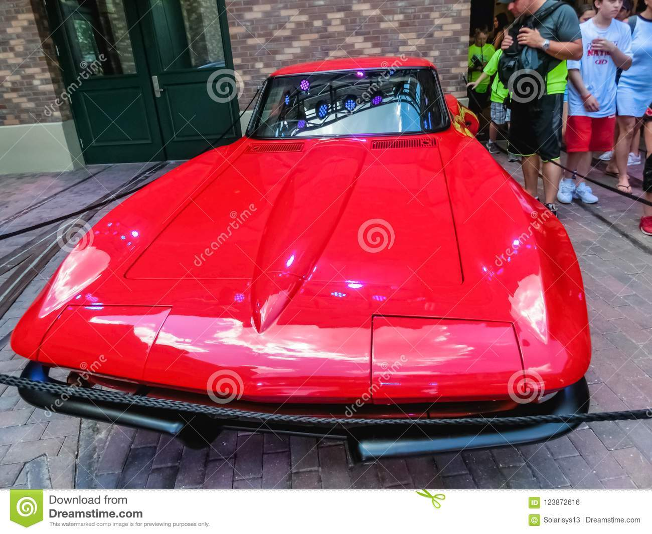 Orlando, Florida, USA - May 10, 2018: The The New Fast Furious Attraction at Universal Orlando Is the Car Lover`s Ride
