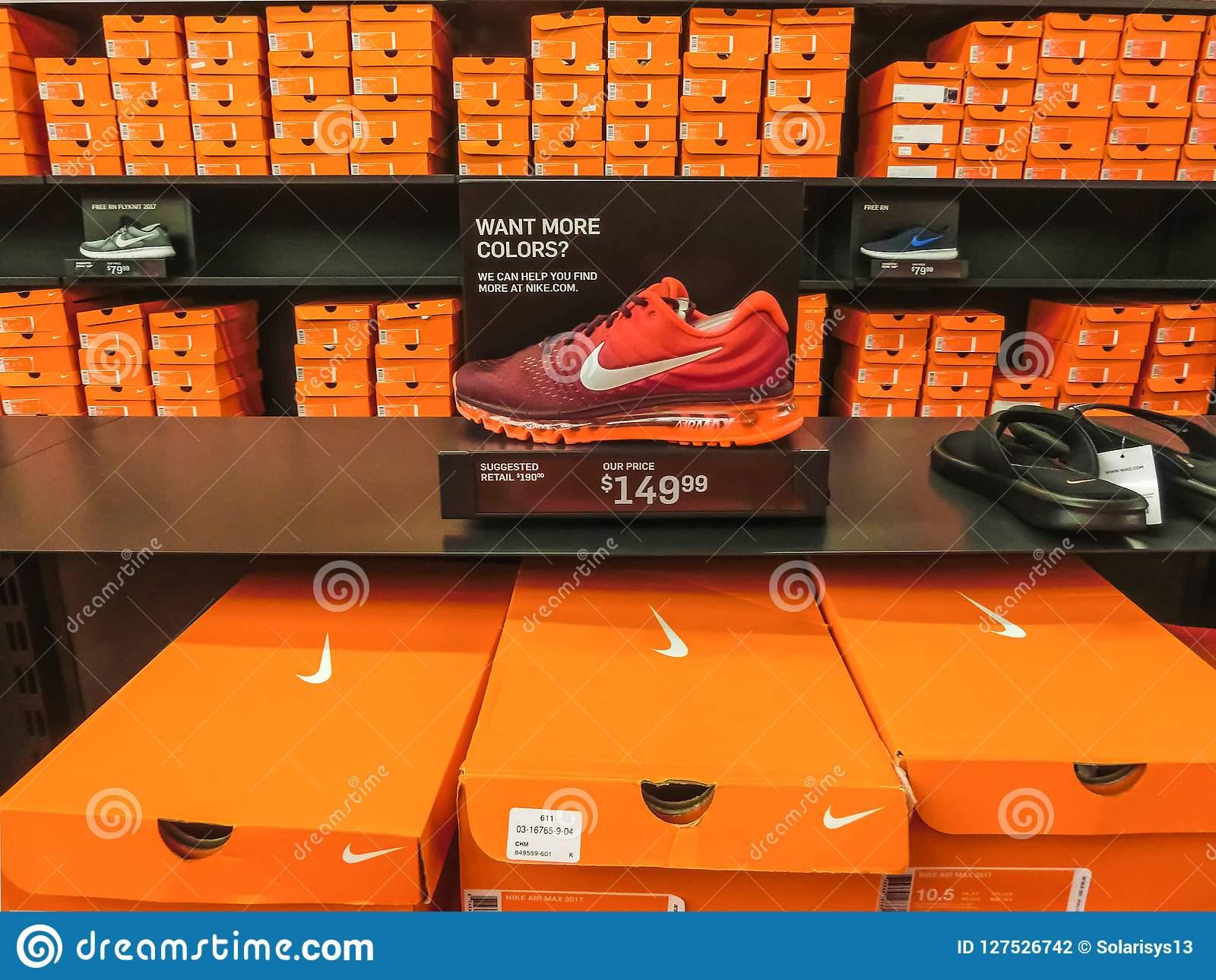 Background Of Stacked Nike Shoes Boxes