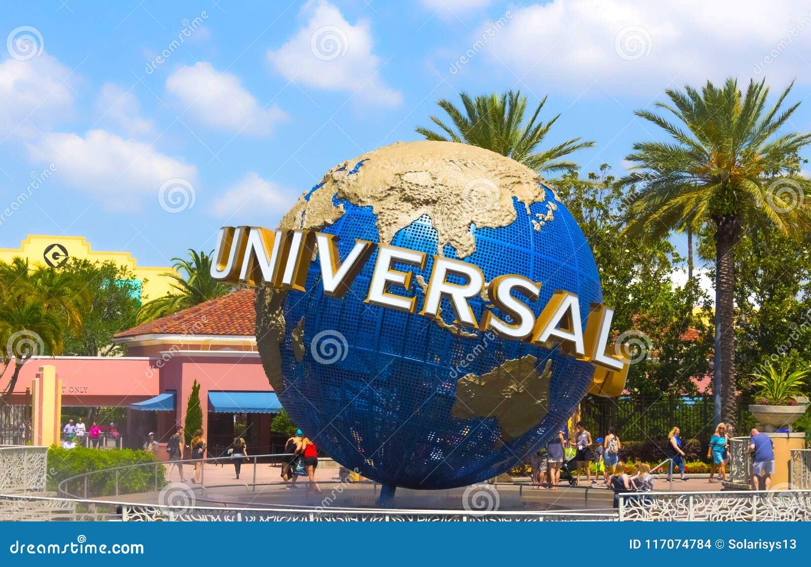 Orlando, USA - May 8, 2018: The Large Rotating Universal