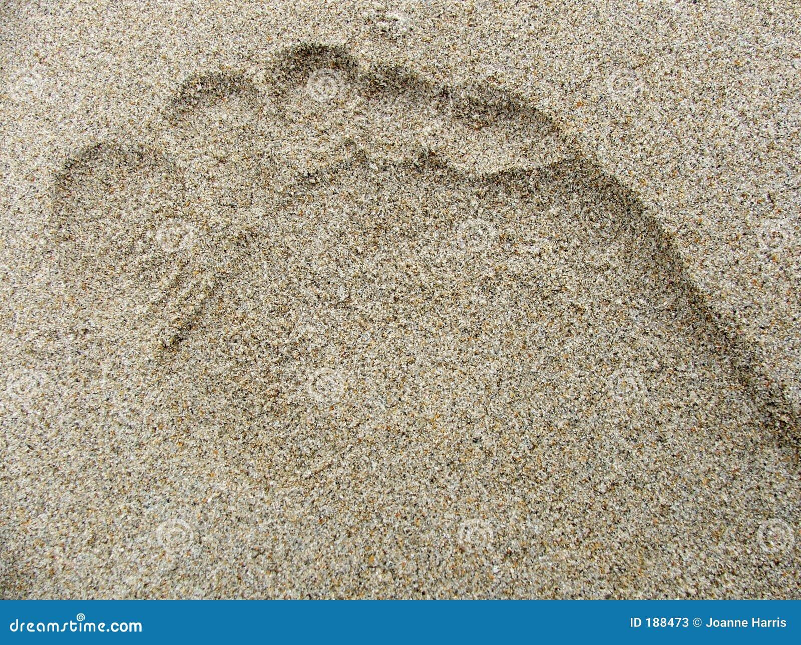 Orma nella sabbia