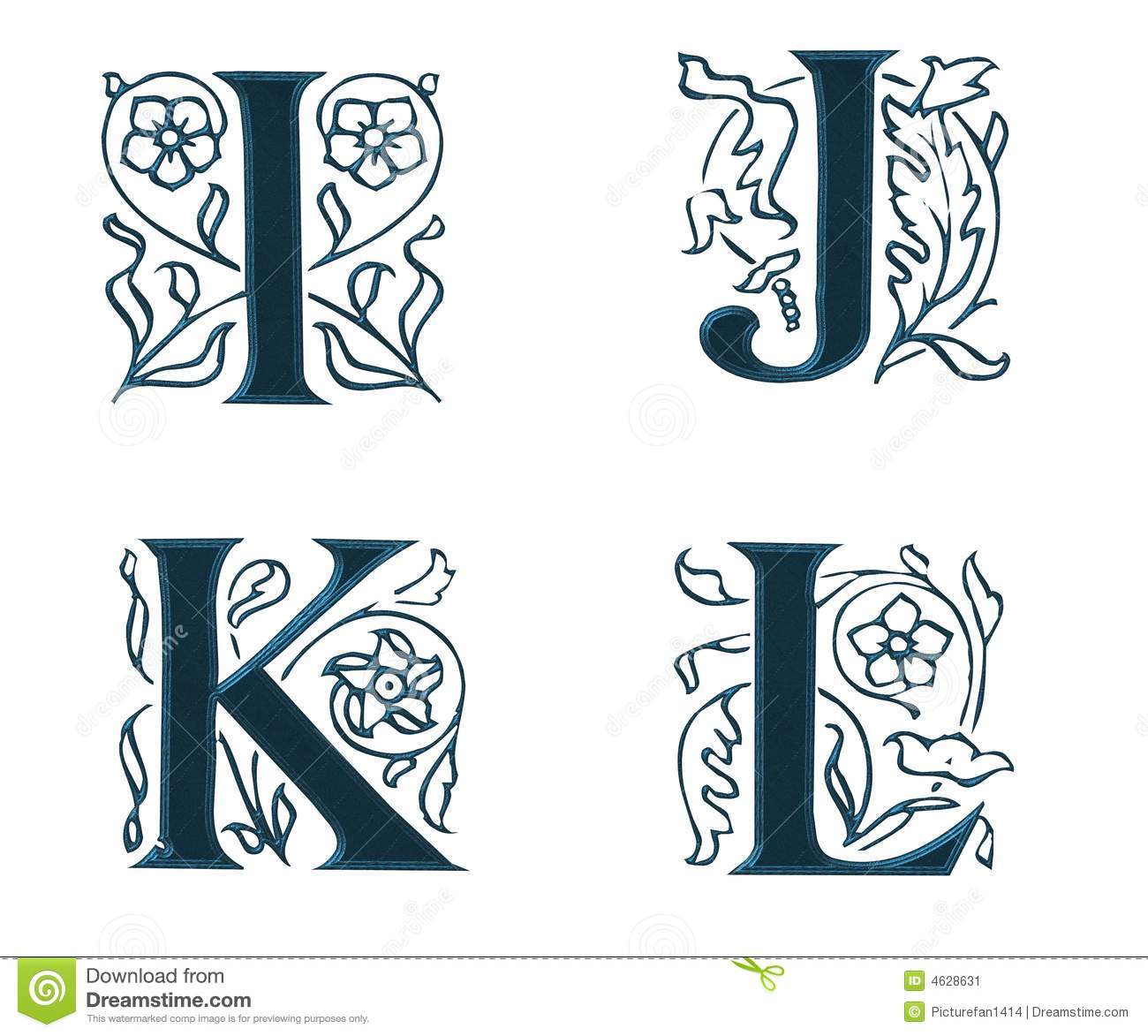 Ornam.Letters w.Leaves 3