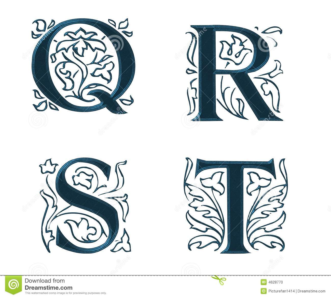 Ornam.Letters w.Leaves 5
