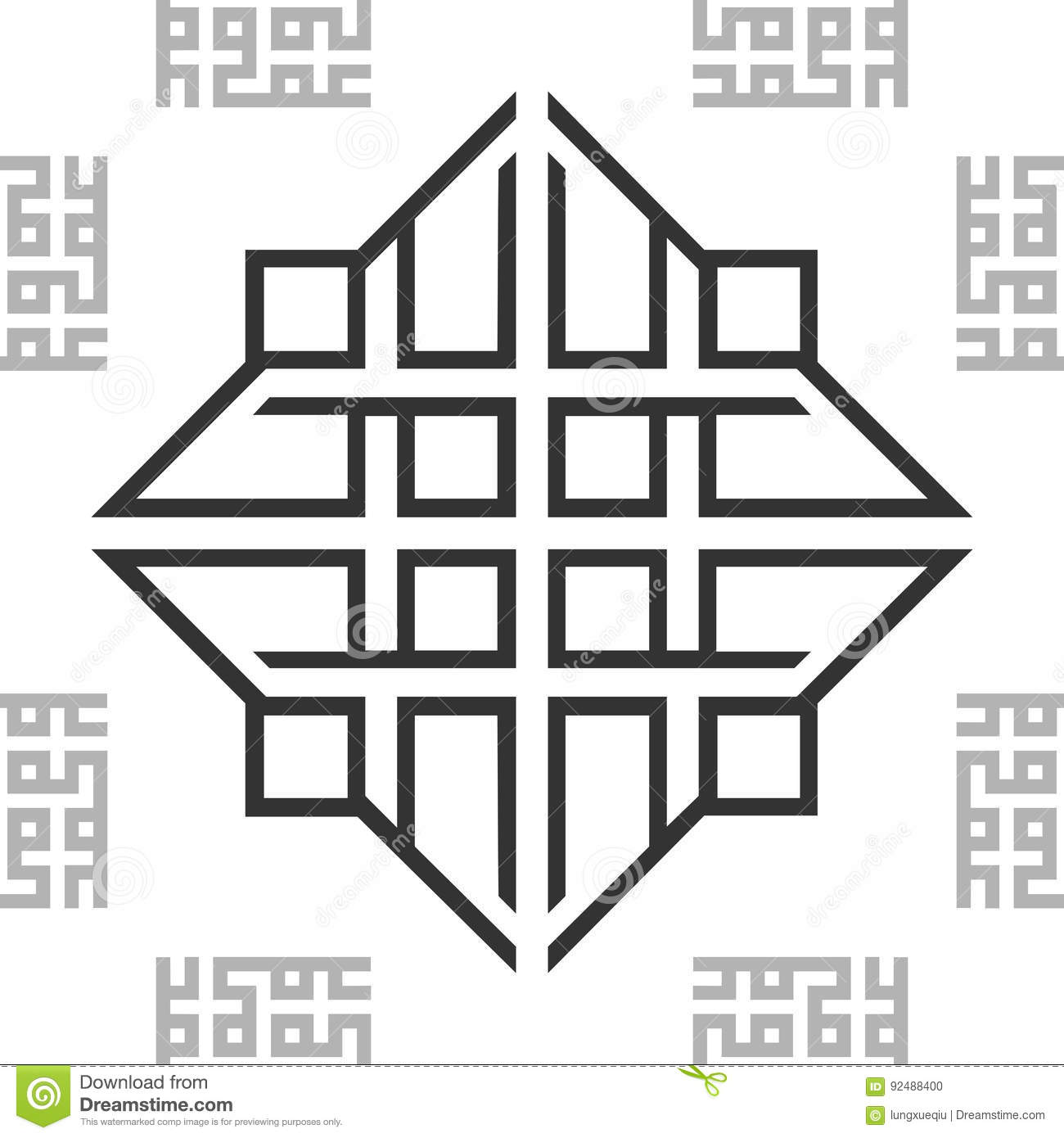 Ornament Black and White BW Oriental Arabic Seamless Pattern Tile Texture Background. Vector.