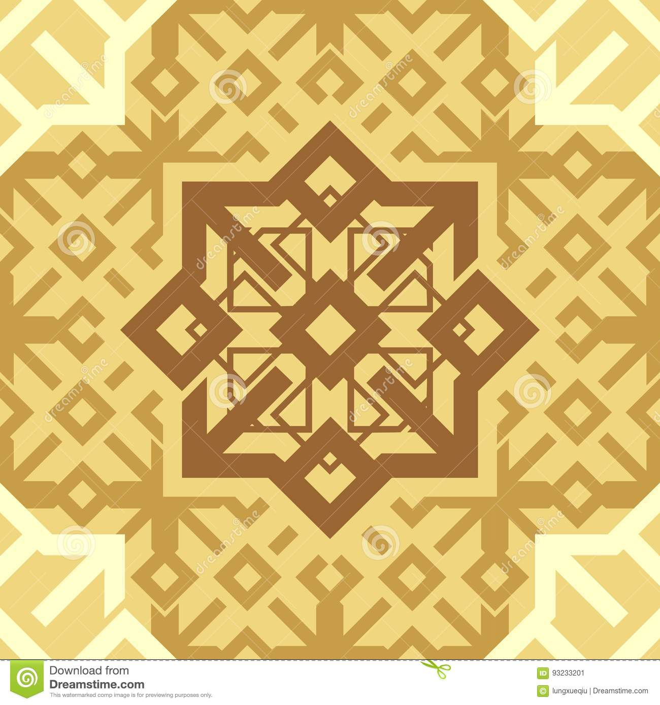 Ornament Cappuccino Coffee Brown Repetitive Seamless Pattern Tile Texture Vector Background.