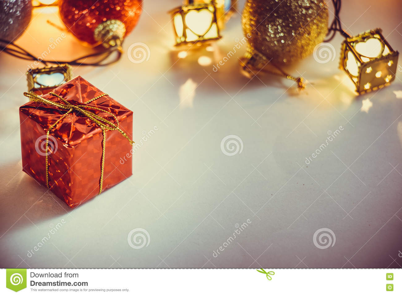 Ornament and Christmas item decorate in holy night