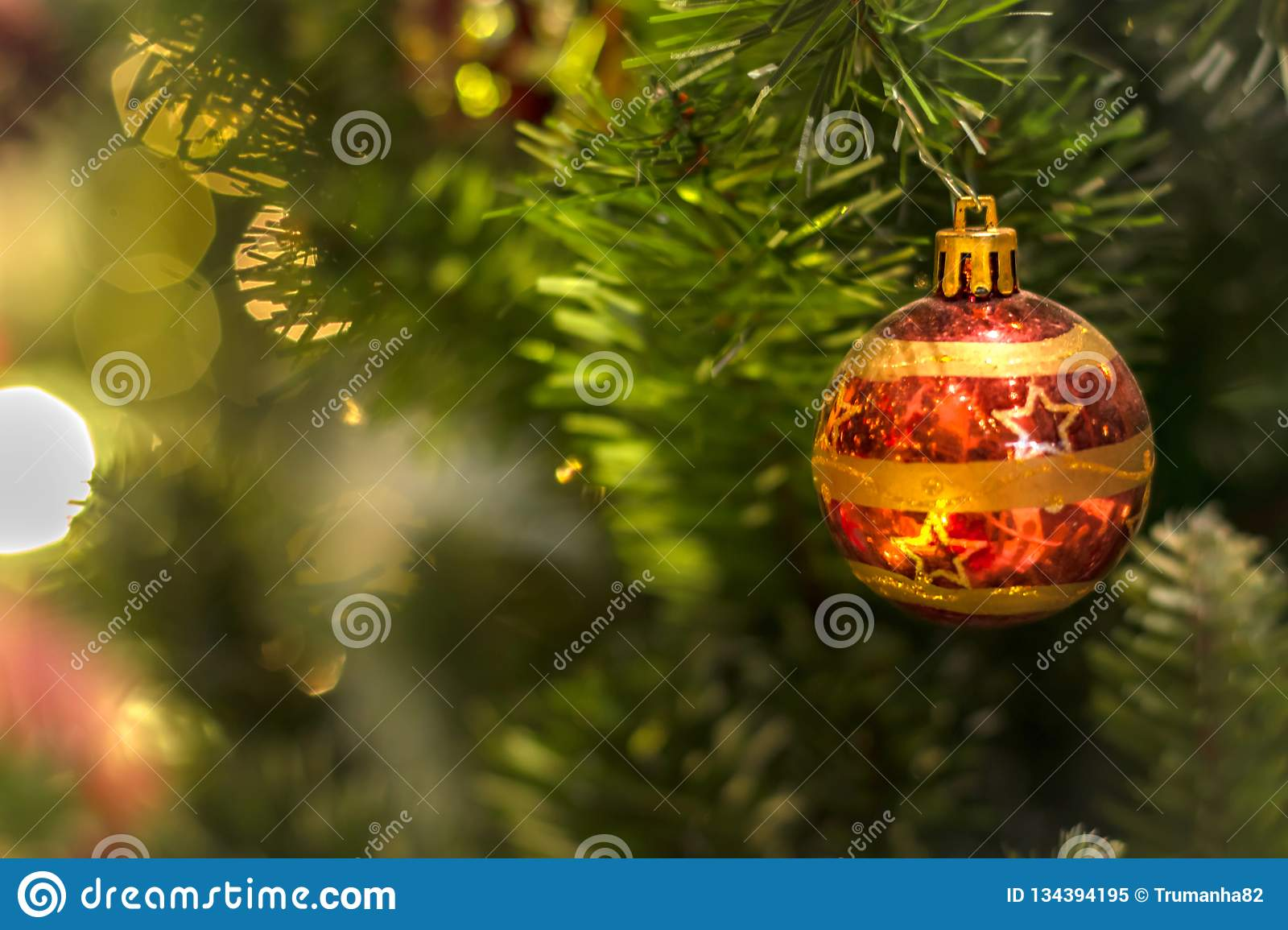 Ornament on Christmas Tree Decorations