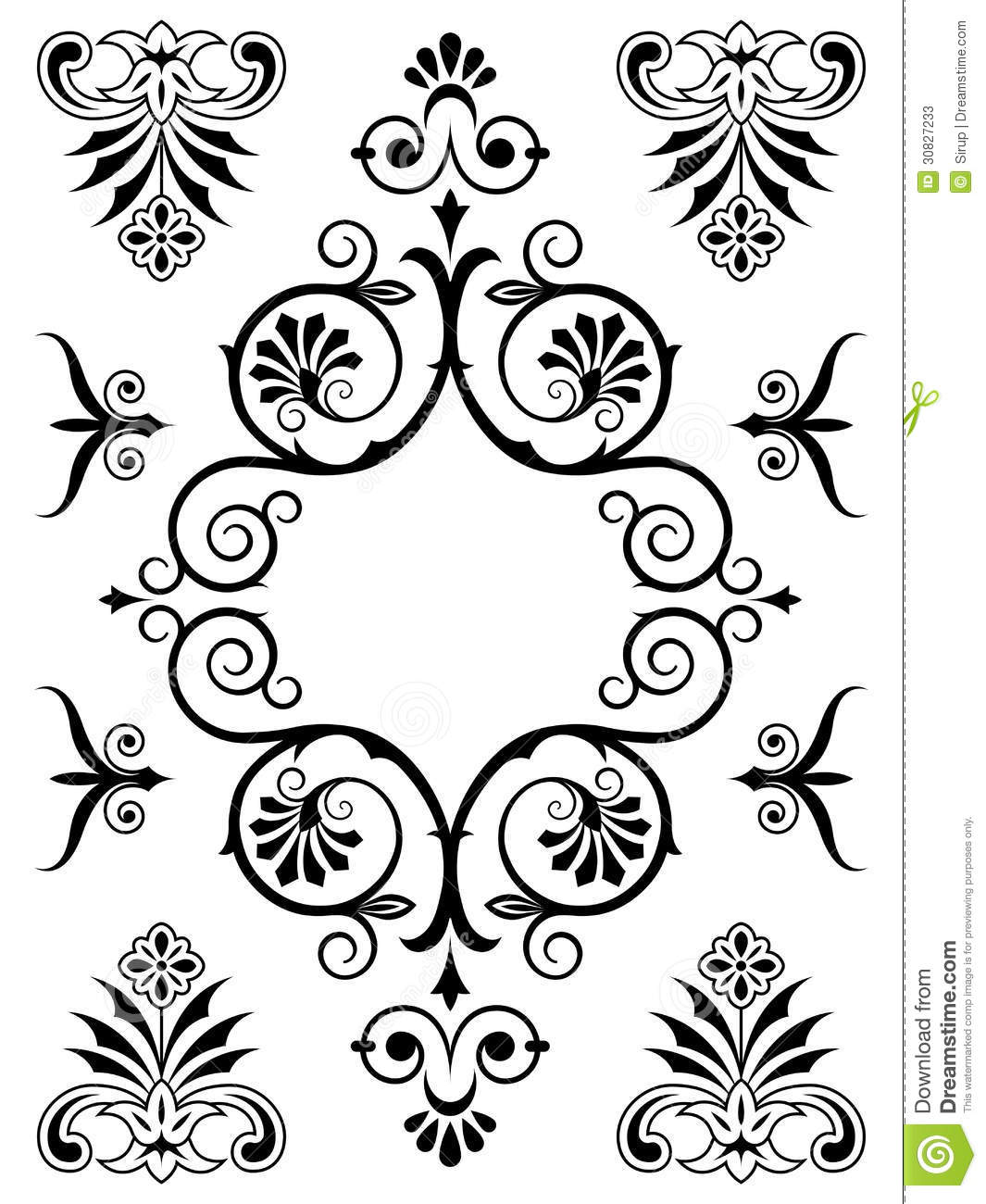 Elements For Design : Ornament design elements stock photos image