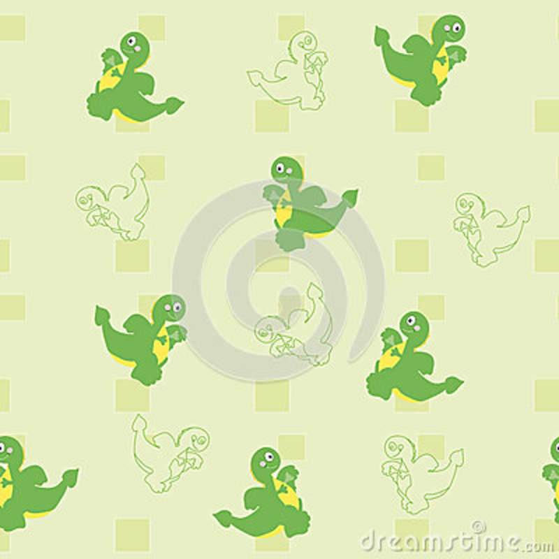 Ornament Of Dragons And Rectangles Stock Vector Illustration Of