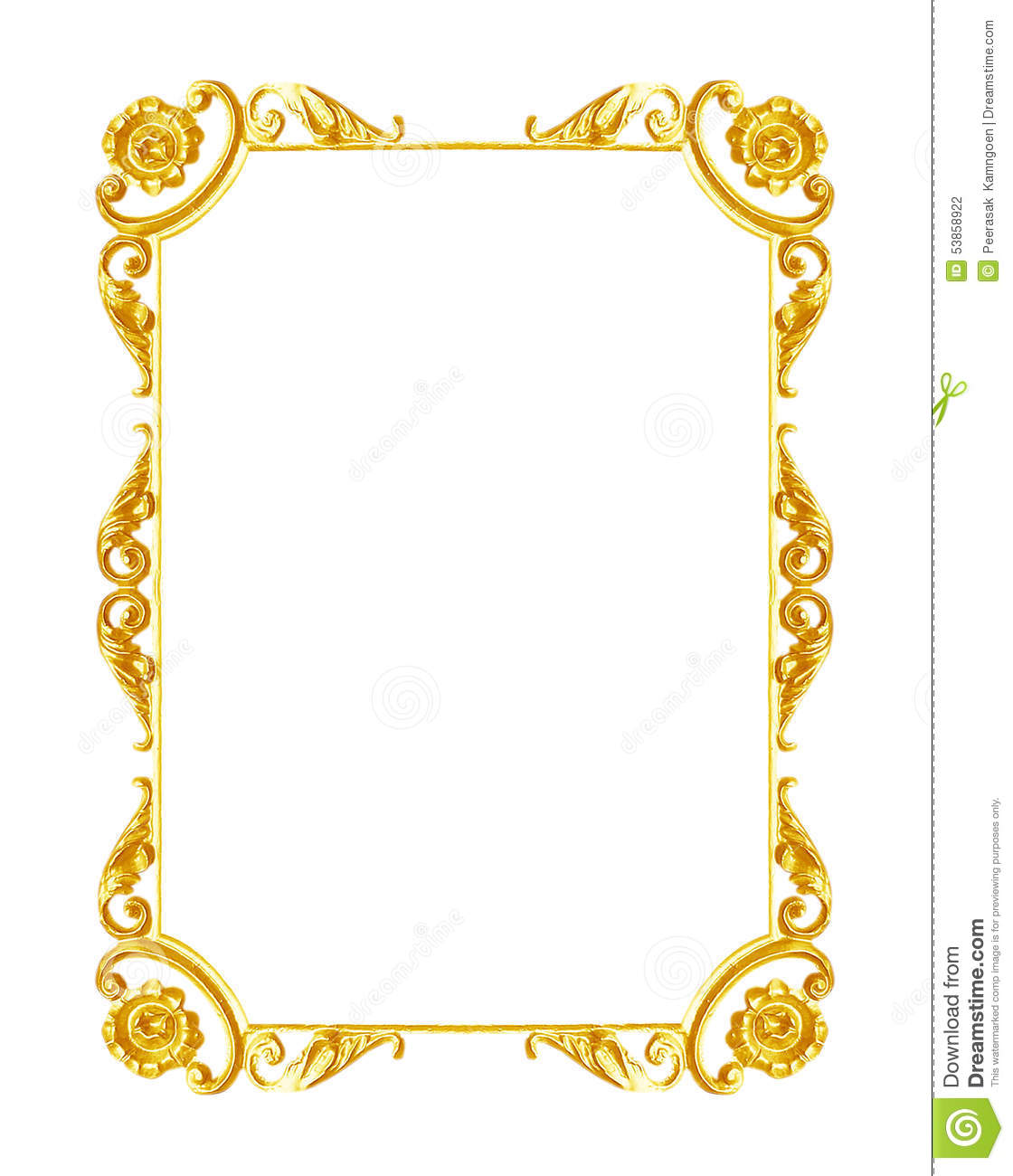 Decorative Arts Antiques White And Gold Photo Frame
