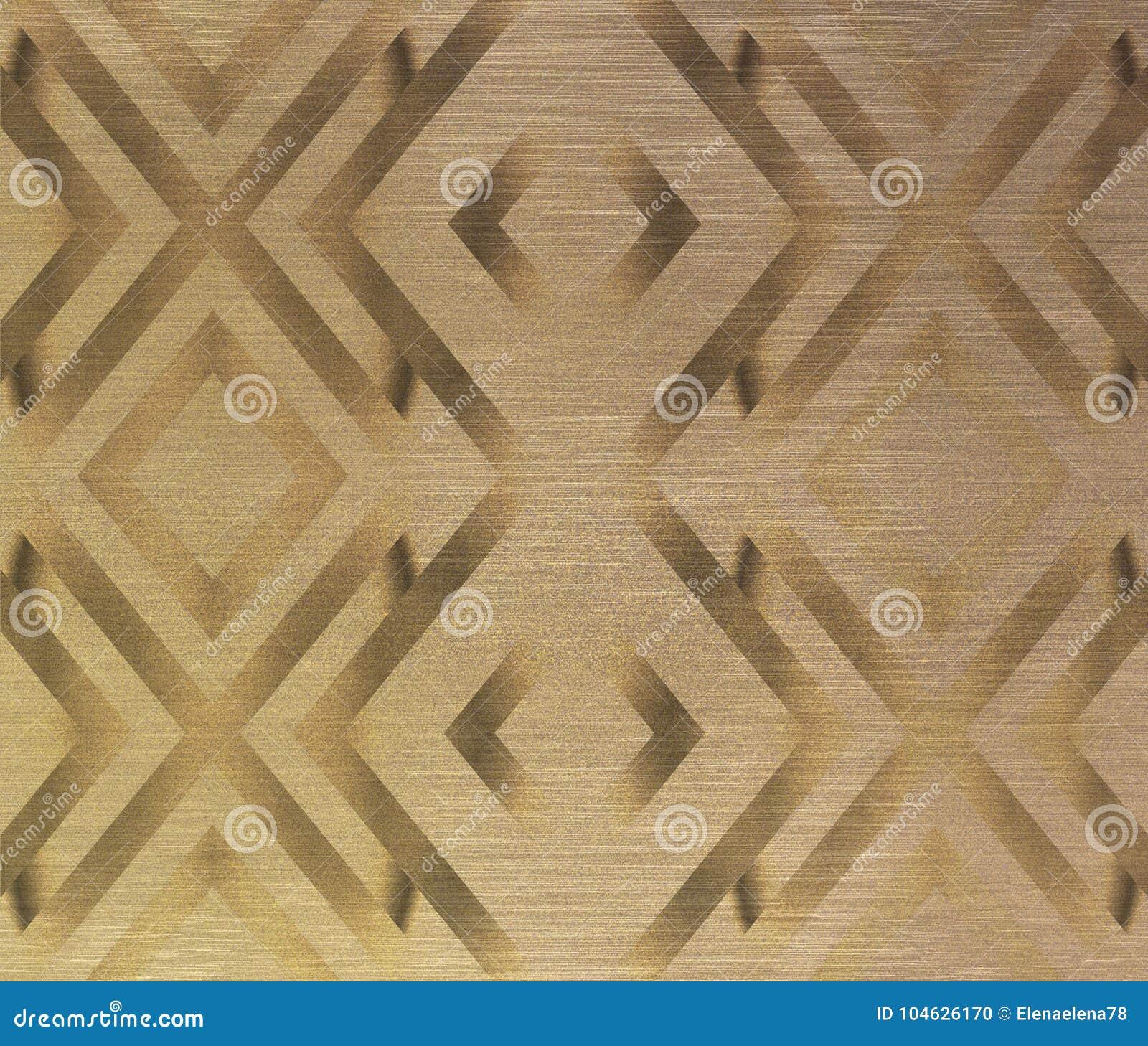 Download Ornament in gouden tonen stock illustratie. Illustratie bestaande uit document - 104626170