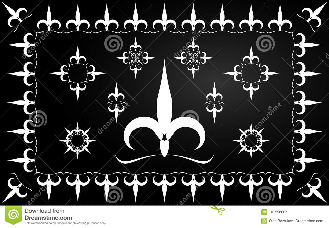 Ornament from lilies flower in different combinations french fl download ornament from lilies flower in different combinations french fl stock vector illustration of izmirmasajfo