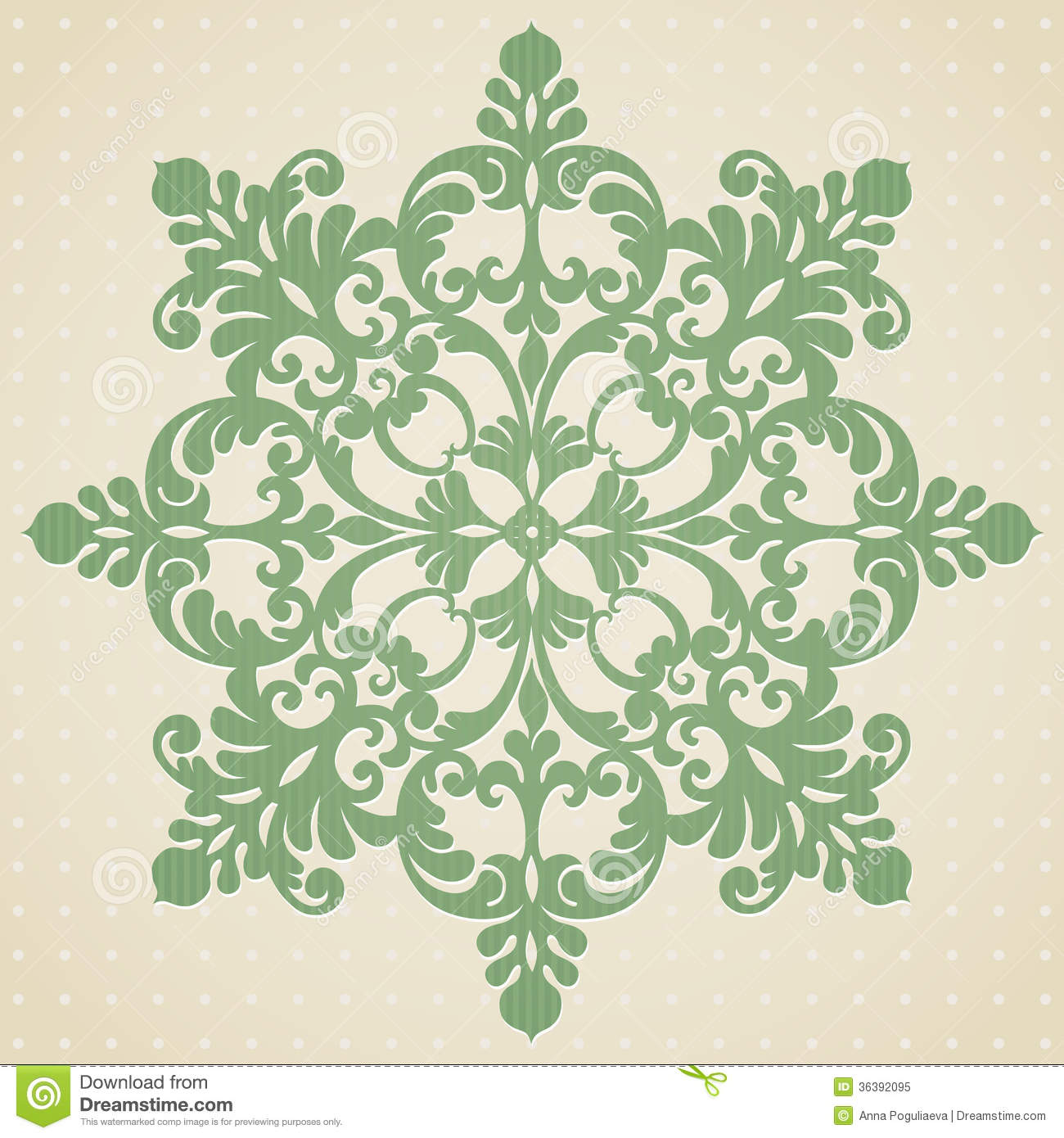 Ornament Pattern In Victorian Style Royalty Free Stock