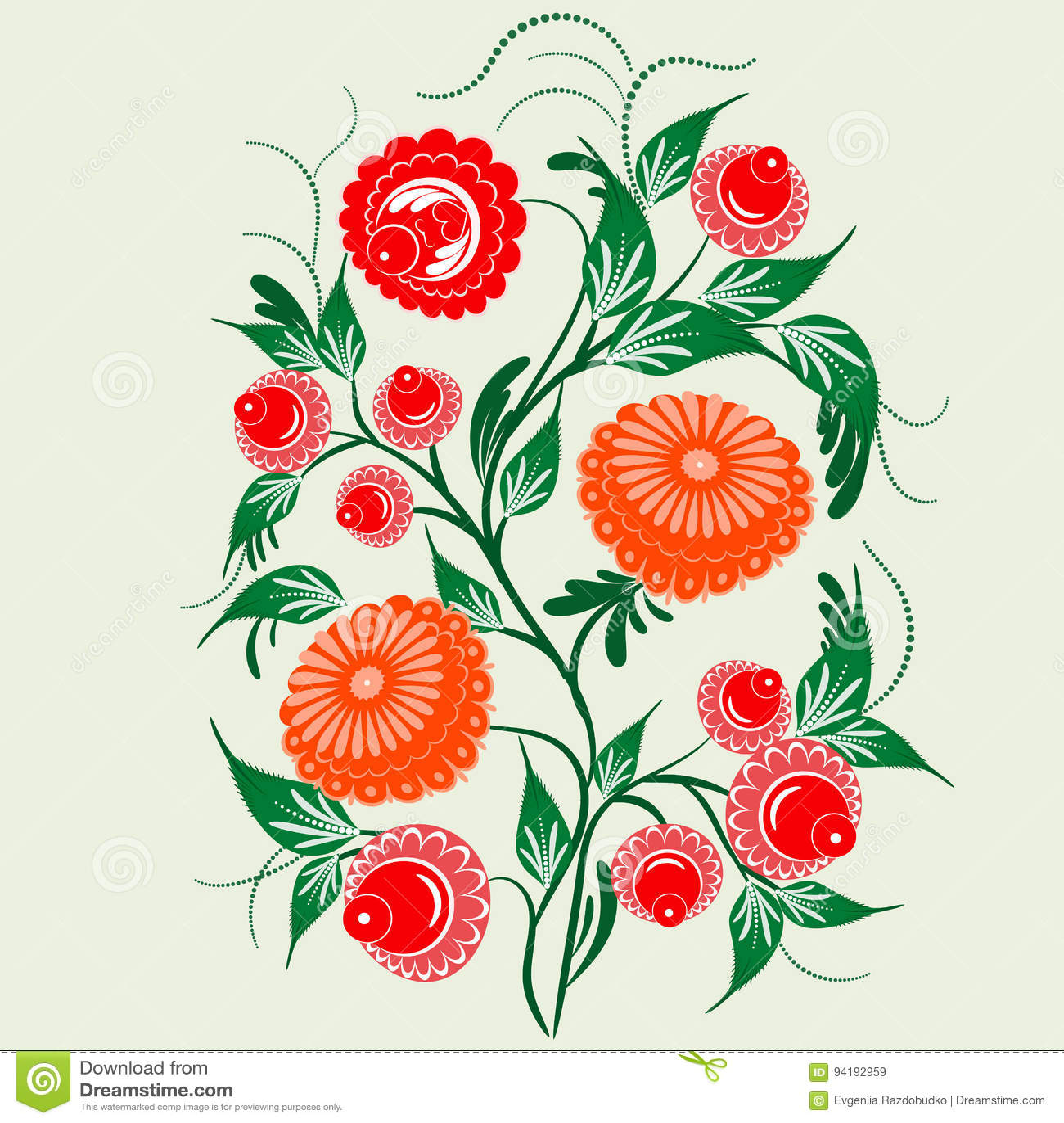 Ornament In The Slavic Folk Style Stock Vector Illustration Of
