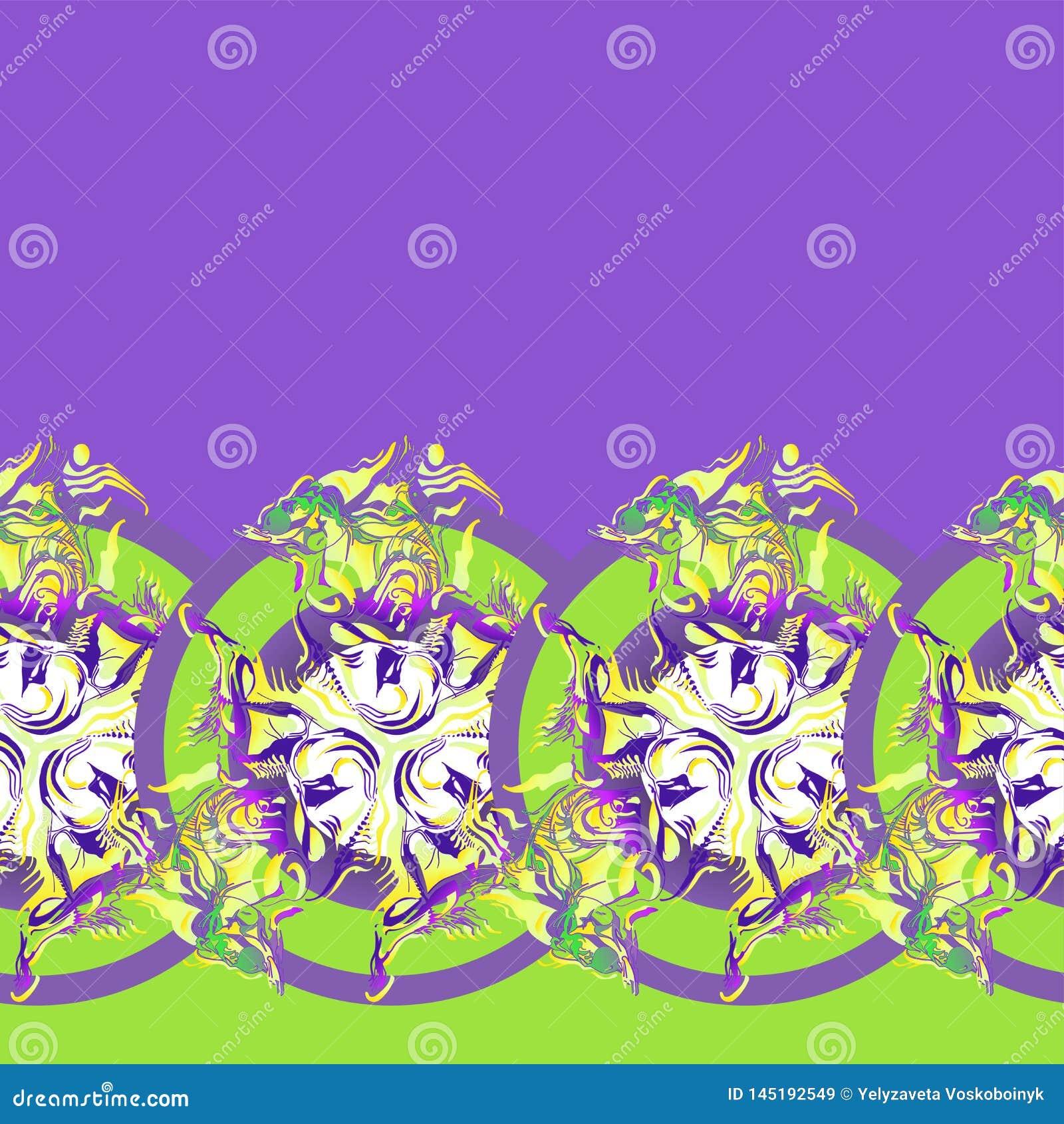 Ornament wielostrzałowe koniczyny ogradzać w okręgu