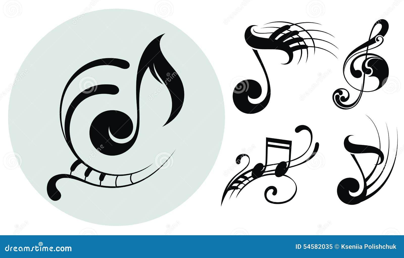 Ornamentacyjne muzyk notatki