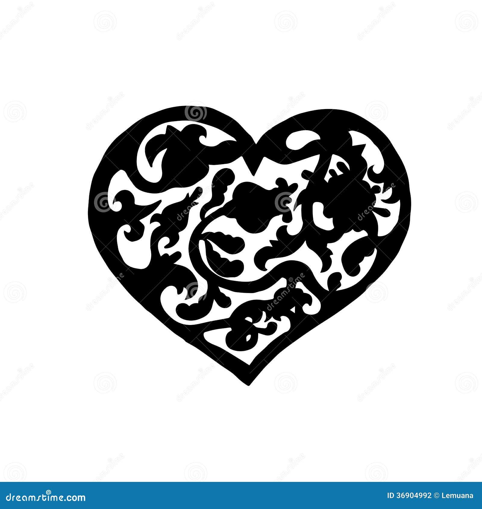 Ornamentacyjny rocznika serce