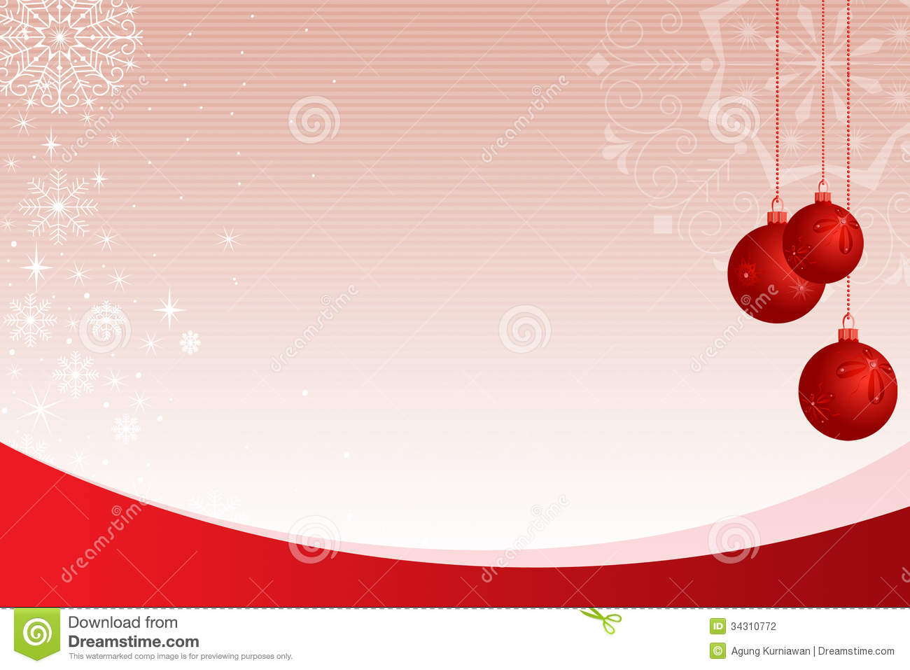 Ornamental Background With Red Bubble Stock Illustration