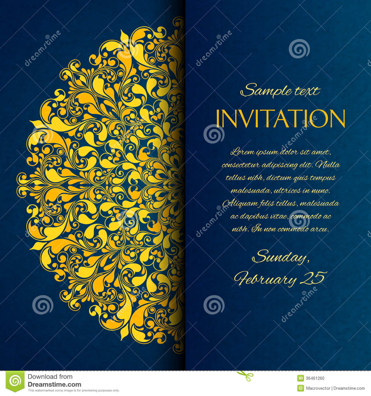 Blue and gold invitations templates stopboris Choice Image
