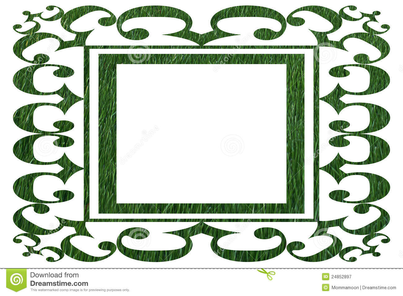 Ornamental border in grass pattern royalty free stock for Ornamental grass border design