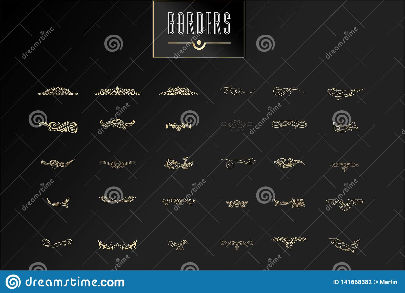 Ornamental borders and flourish corners, royal ornament swirls and vector vintage page dividers. Classical decoration
