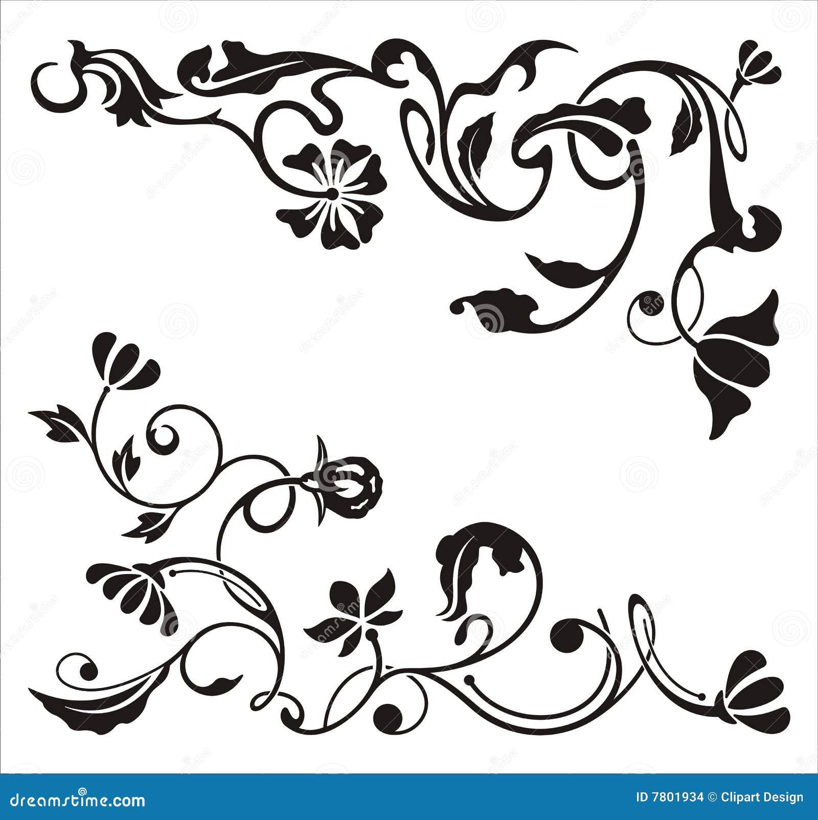 Ornamental Corner Designs Stock Images - Image: 7801934