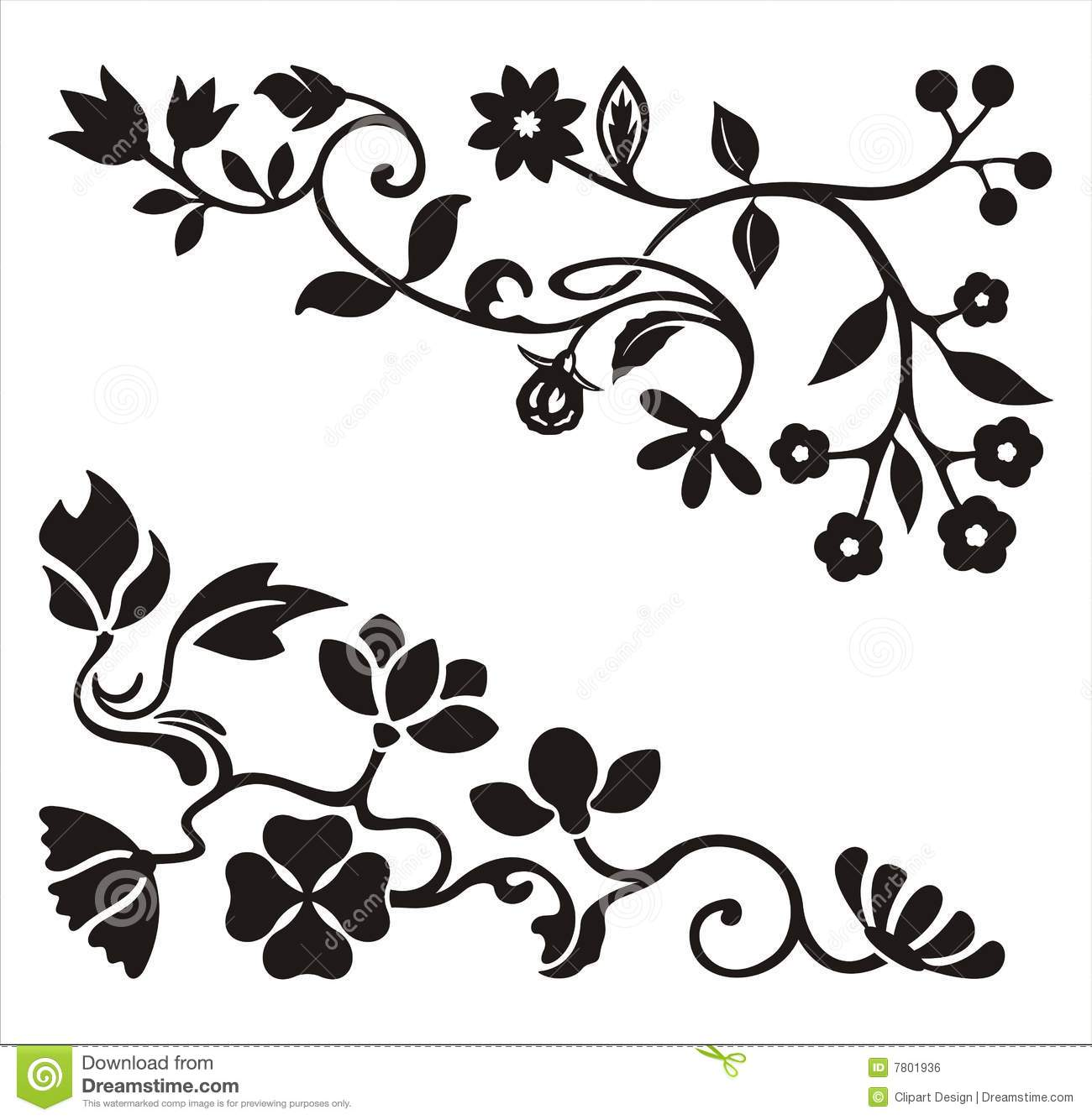 Fish Silhouette Vectors Printable Cut Templates together with Printable Decorative Border Stencils 2 as well Shape Coloring Pages in addition Digital Floral Design Clip Art also Grenade Vector Pattern. on flower stencil pattern free