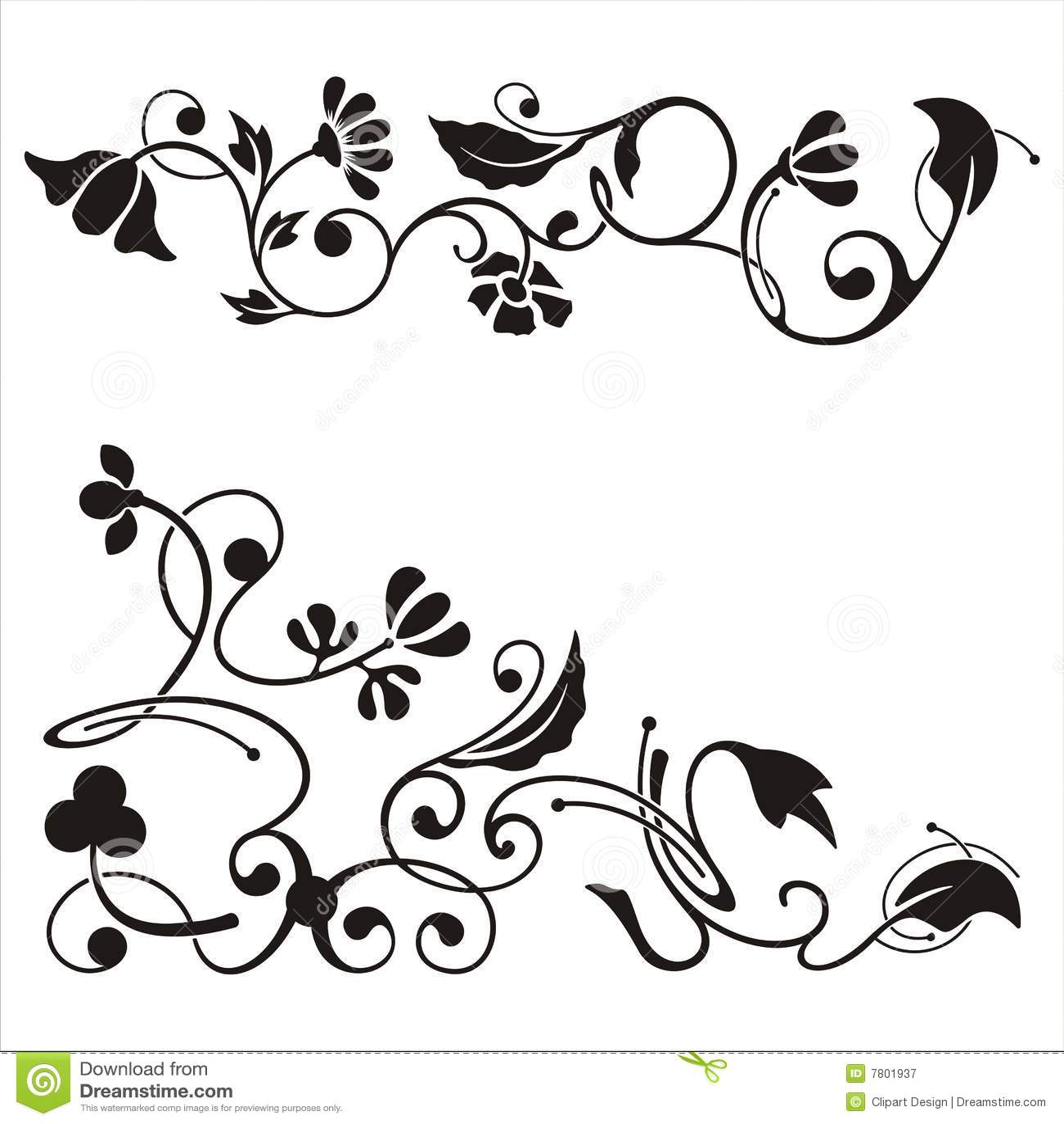 Download Ornamental Corner Designs Stock Illustration Of Curl