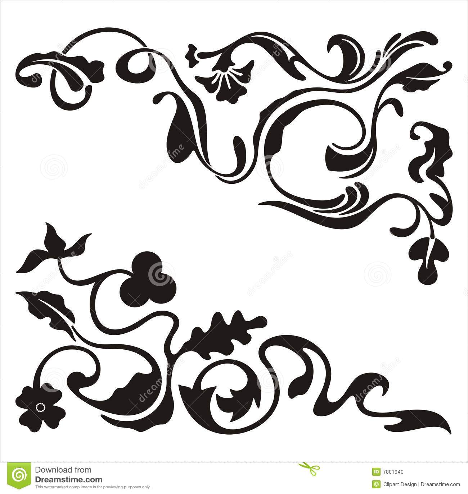 Ornamental Corner Designs Stock Photo - Image: 7801940