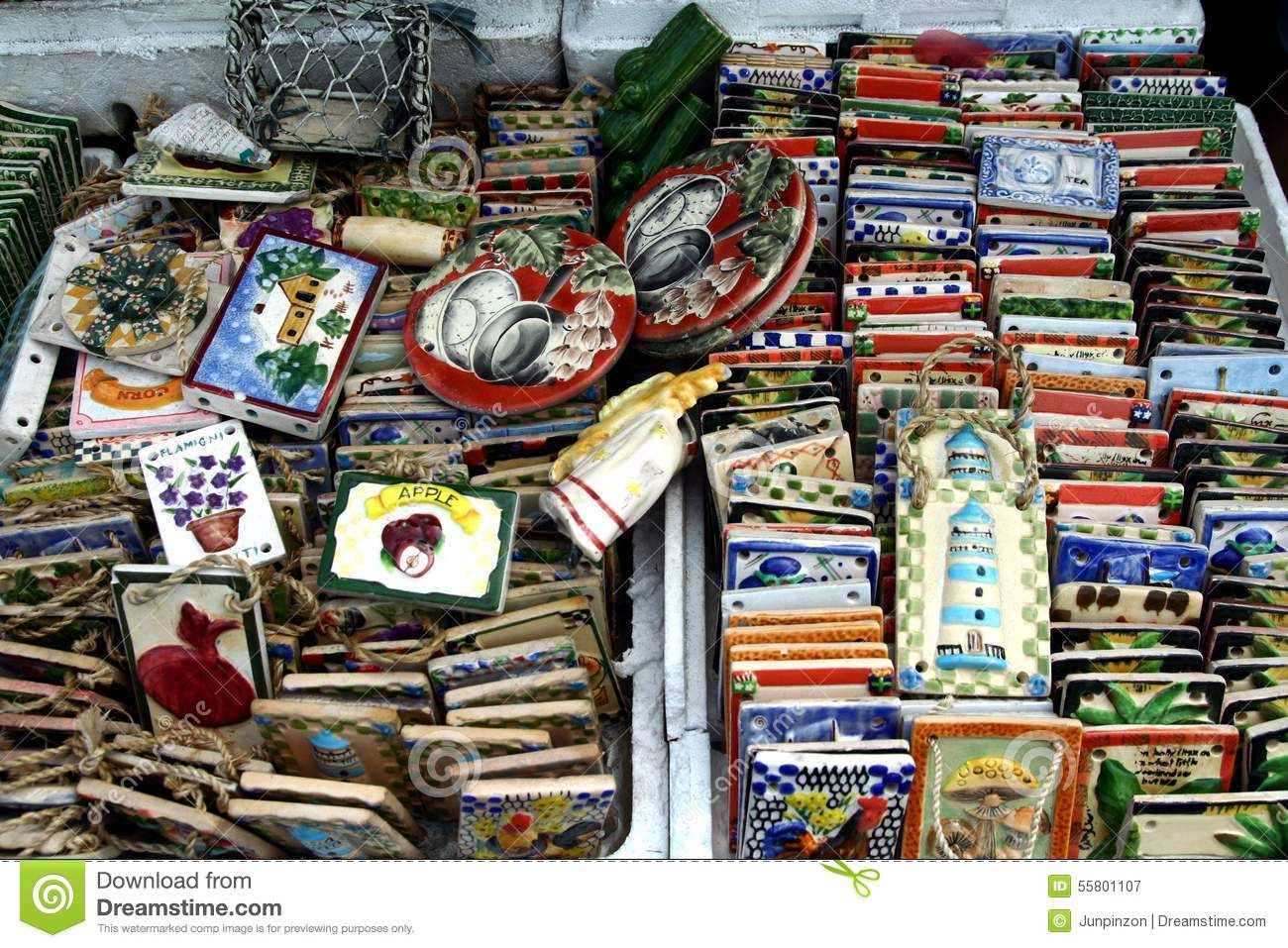 Ornamental And Decorative Ceramic Tiles Sold At A Store In Dapitan Arcade In Manila Philippines