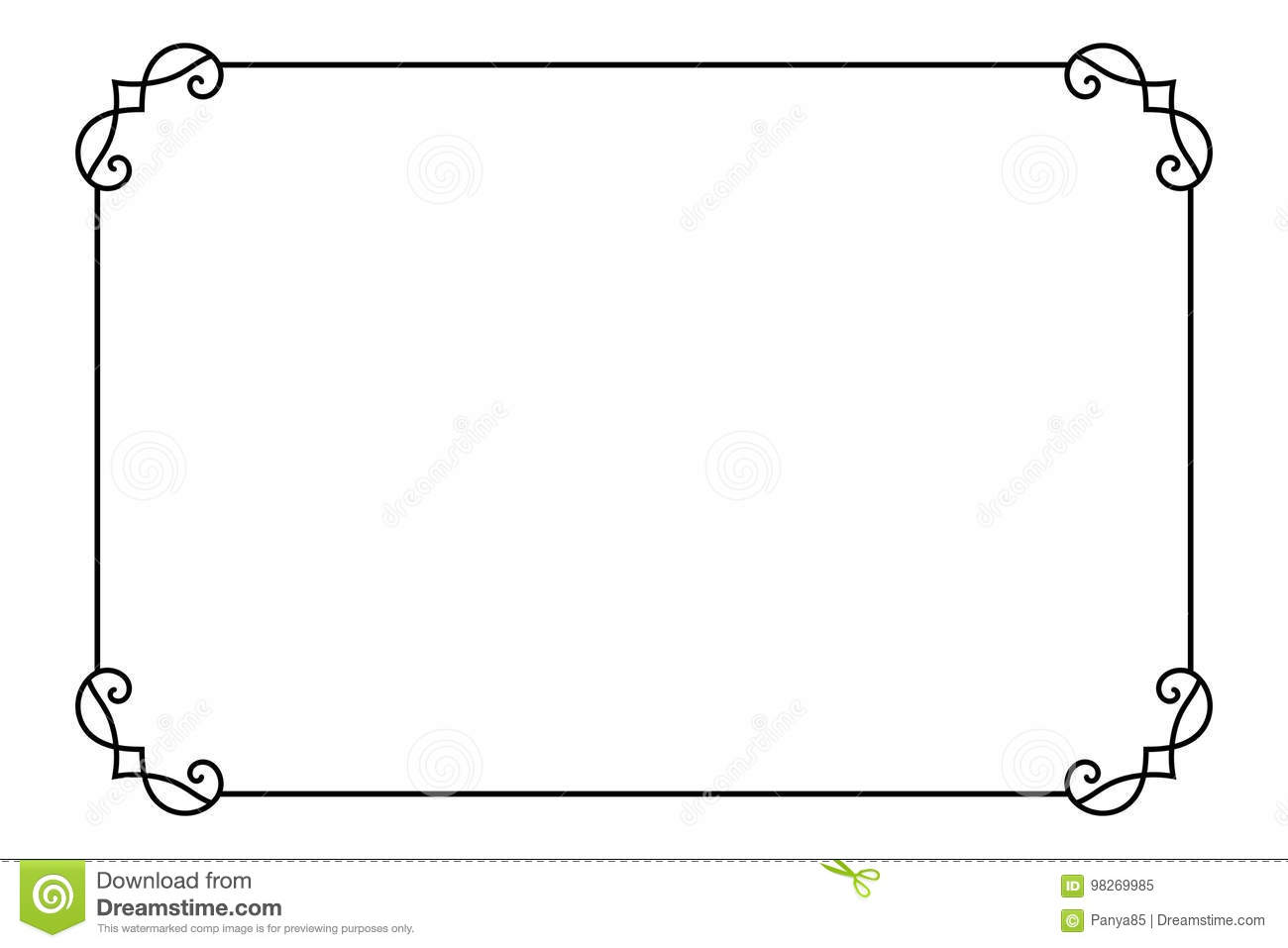 ornamental decorative page frame vector line style border template