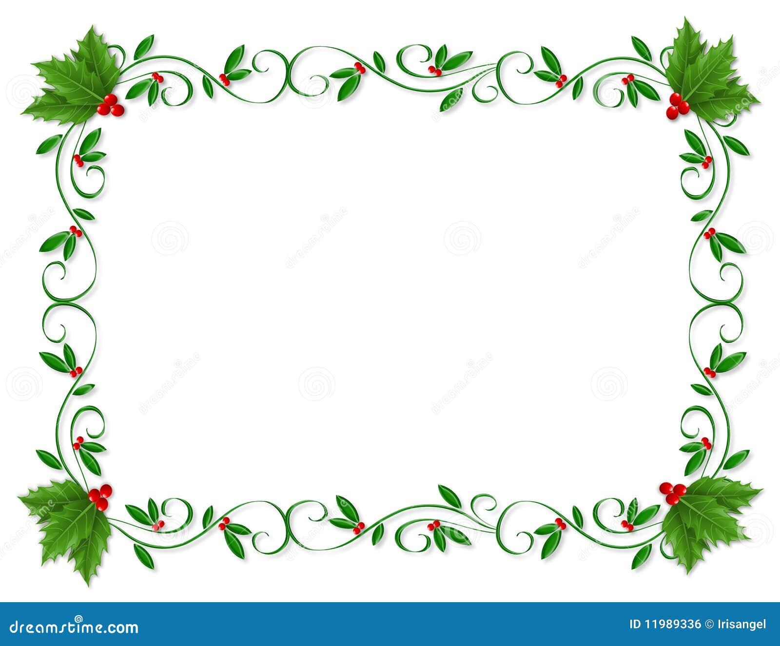 Ornamental del acebo de la frontera de la Navidad