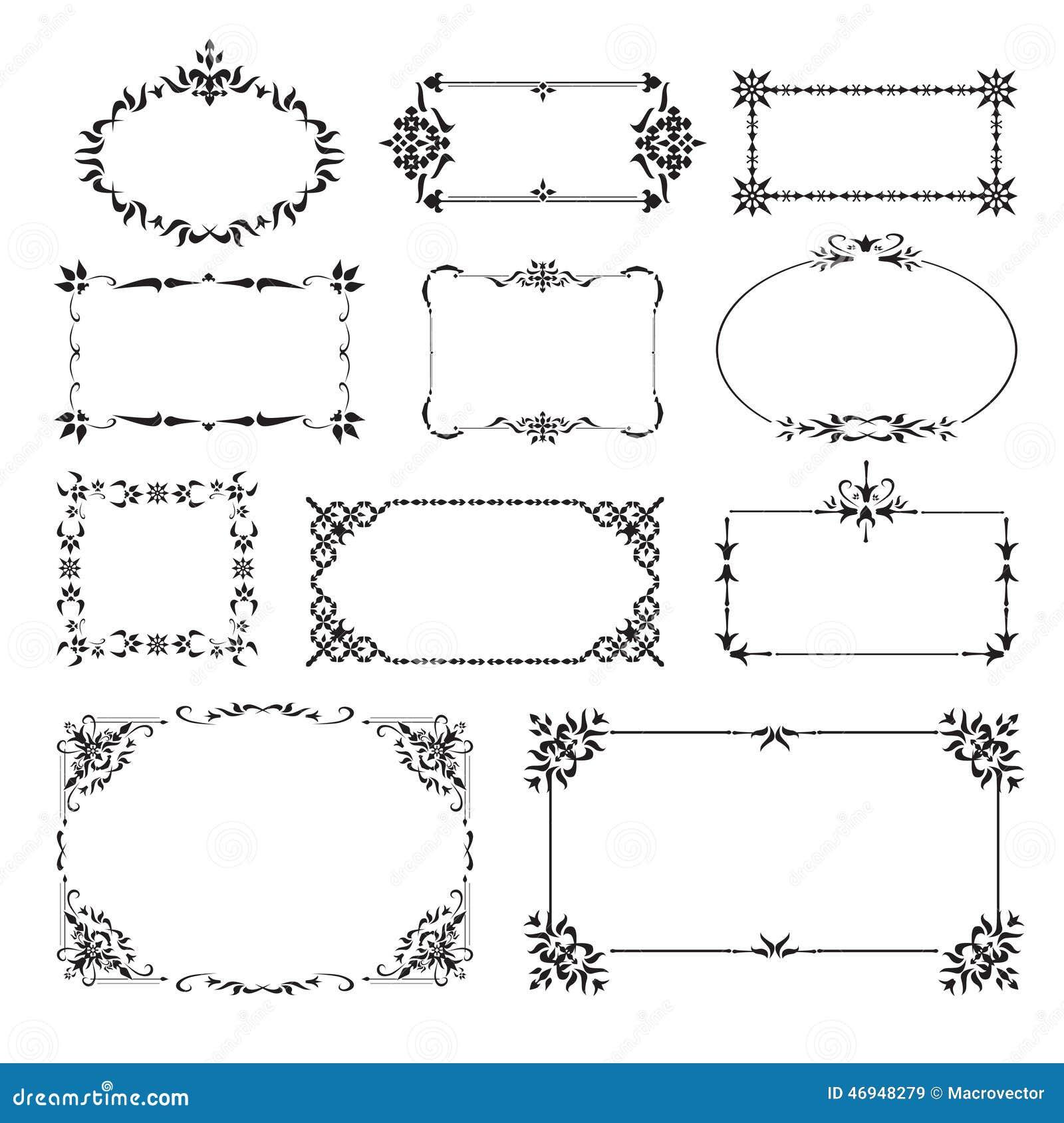 Ornamental Design Corners Set Stock Vector - Image: 46948279