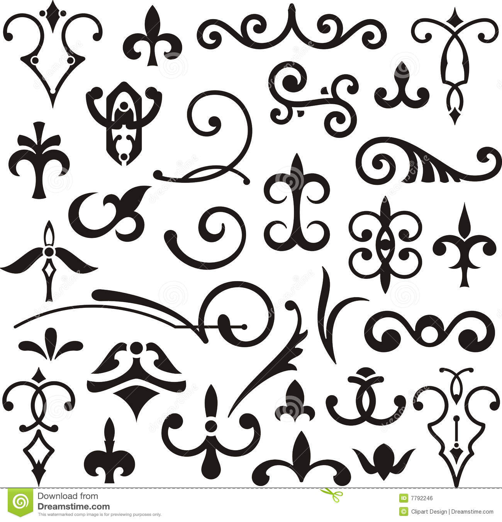 Ornamental Design Elements Stock Illustration Of
