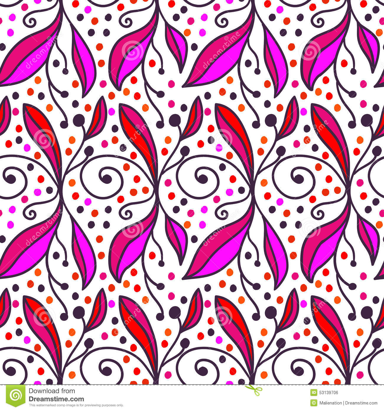 Ornamental doodle floral background. Seamless pattern for your design wallpapers, pattern fills, web page backgrounds, surface tex