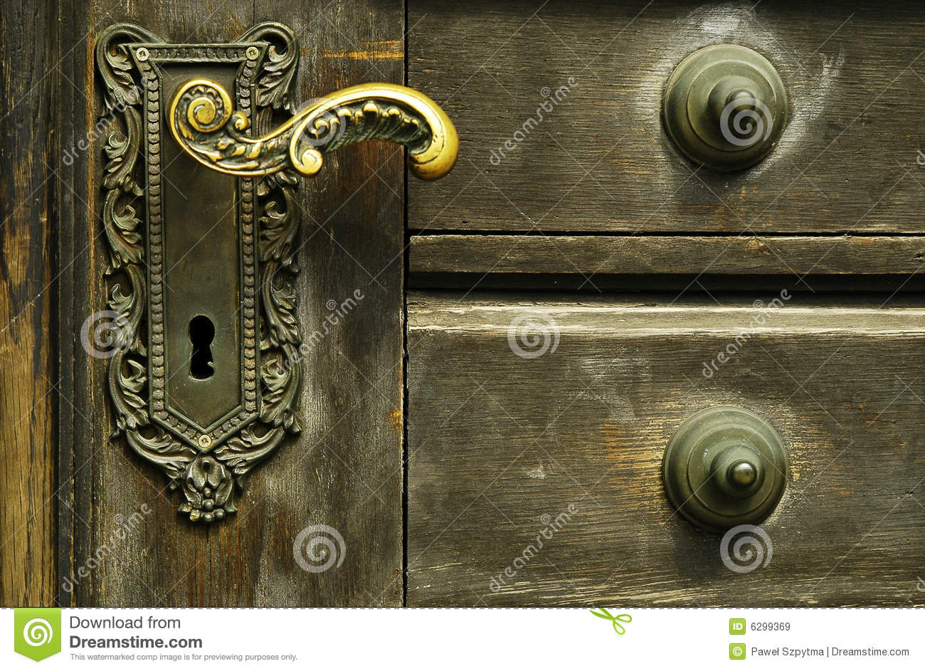 Locked Door Foyer Bonfire : Ornamental door lock stock image of golden brick