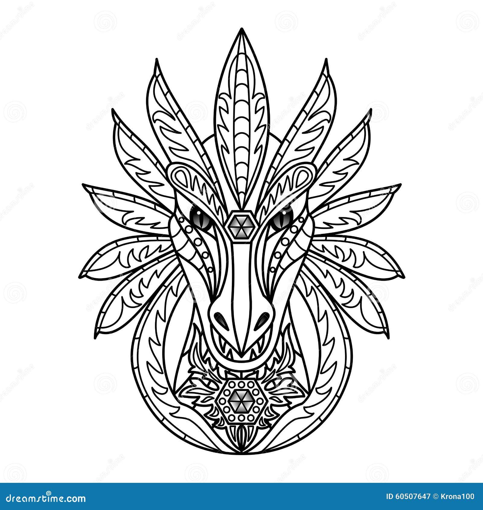 ornamental dragon stock vector image 60507647