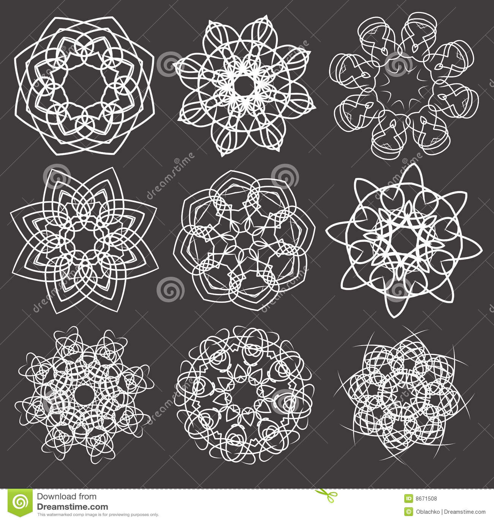 Ornamental floral d éléments
