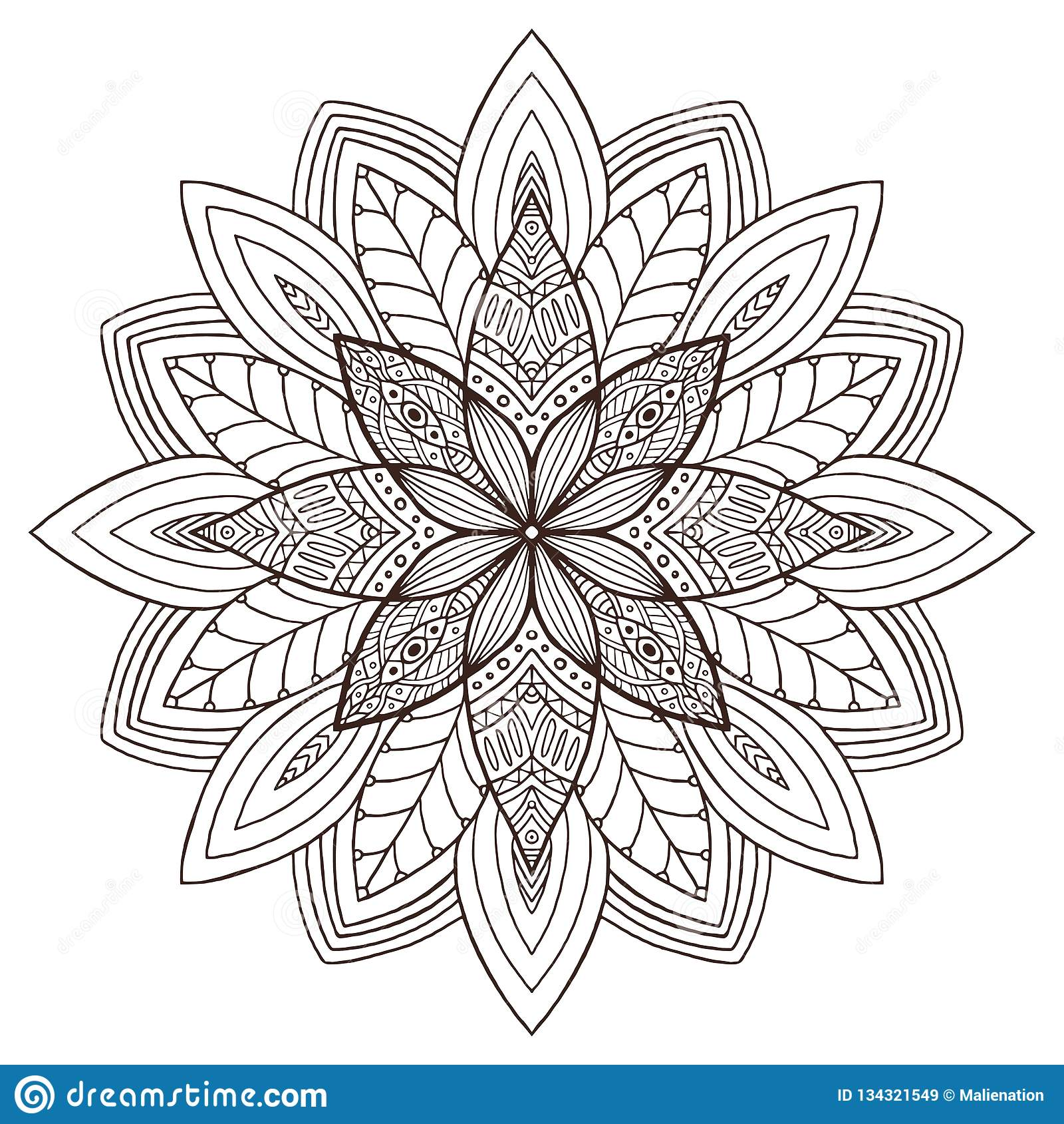 Ornamental Floral Mandala Tattoo Art Design Carpet