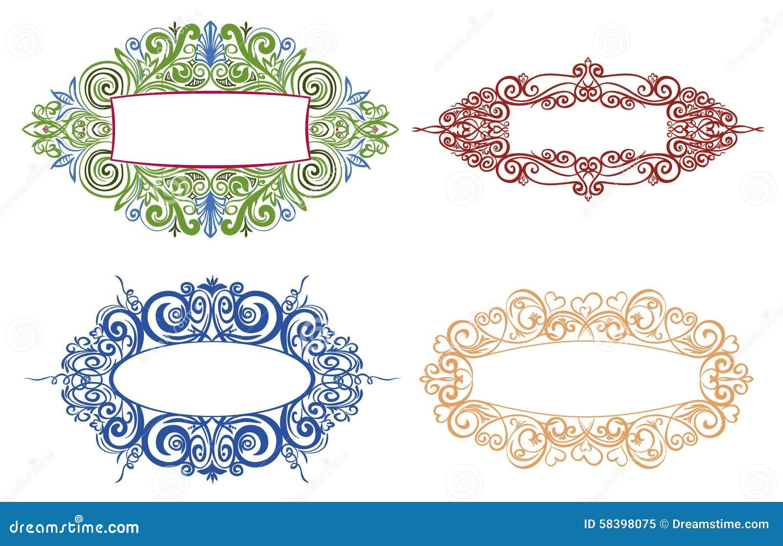 The ornamental frame stock illustration. Illustration of document ...
