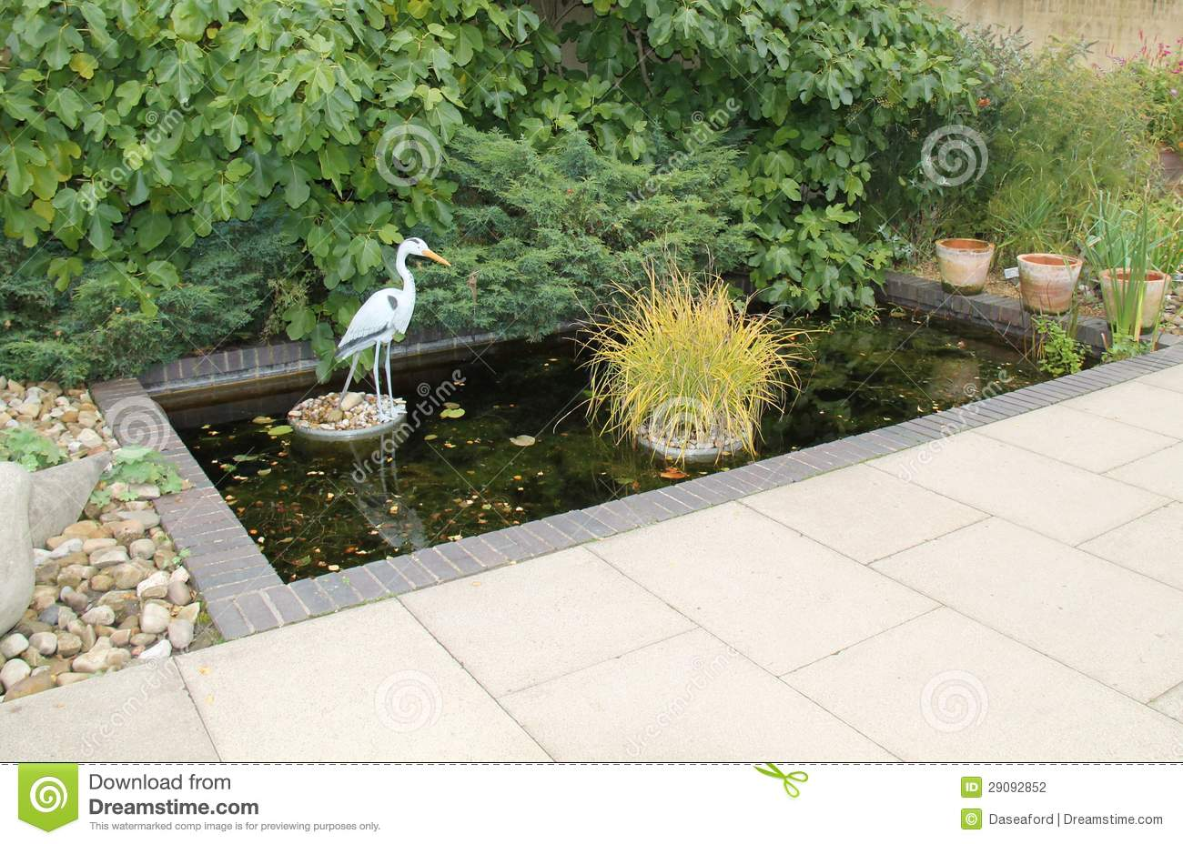 Ornamental garden water feature royalty free stock for Ornamental fish pond filters