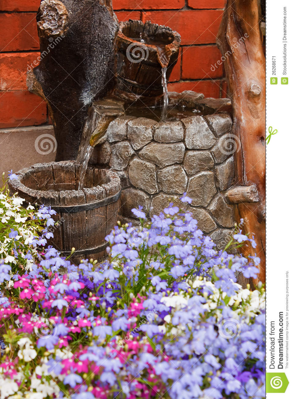 Ornamental garden water feature royalty free stock for Ornamental garden features