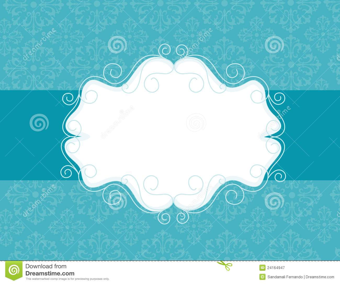 Ornamental Invitation Background Stock Vector Illustration Of