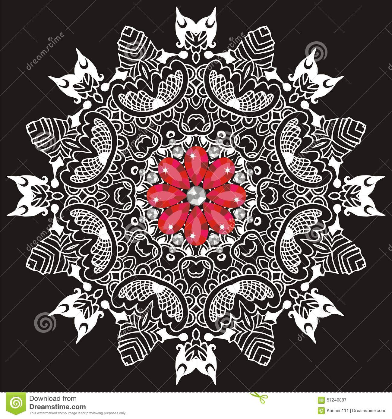 Ornamental Lace Pattern For Wedding Invitations And Greeting Cards ...